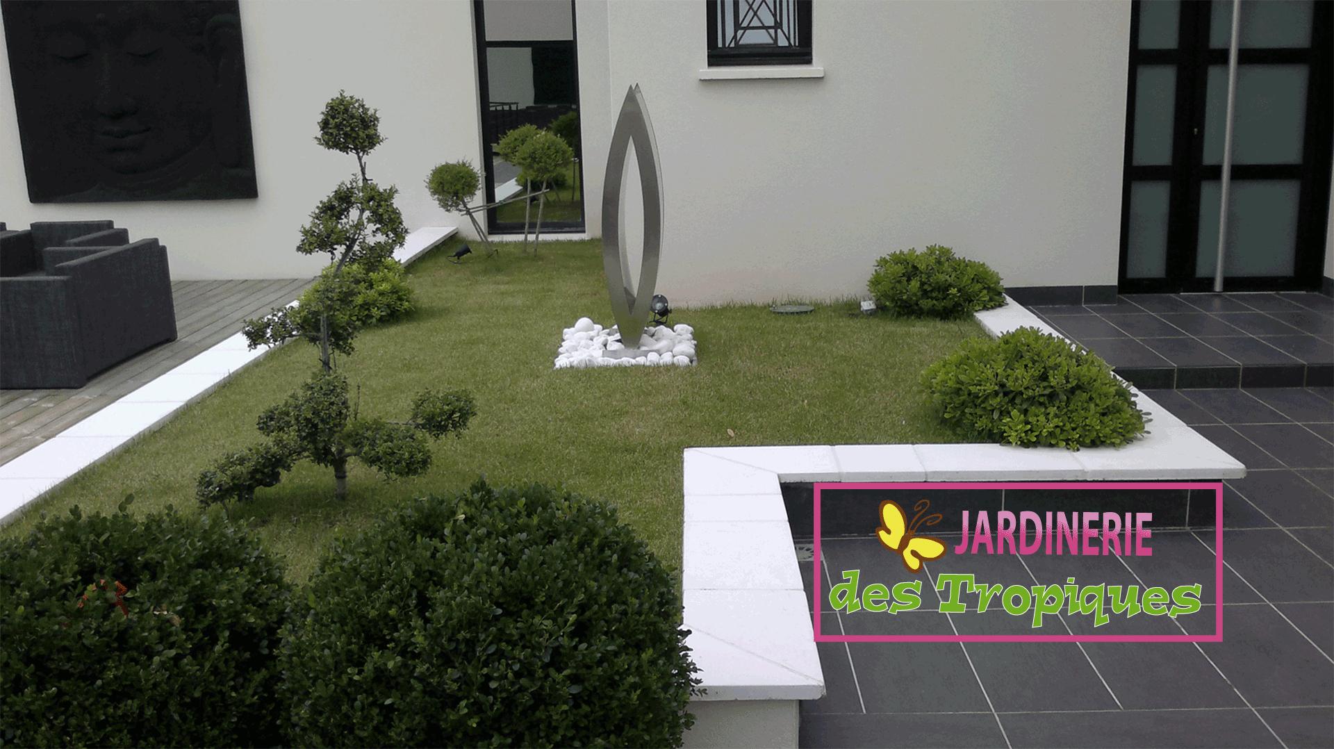 Jardinerie Des Tropiques | A Muret Et Labarthe : Pierres ... encequiconcerne Jardin Avec Galets Blancs