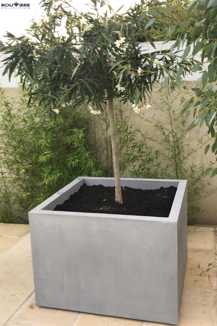Jardinières Carrées Ou Rectangulaires En Plusieurs ... destiné Jardinieres Beton Pour Jardin