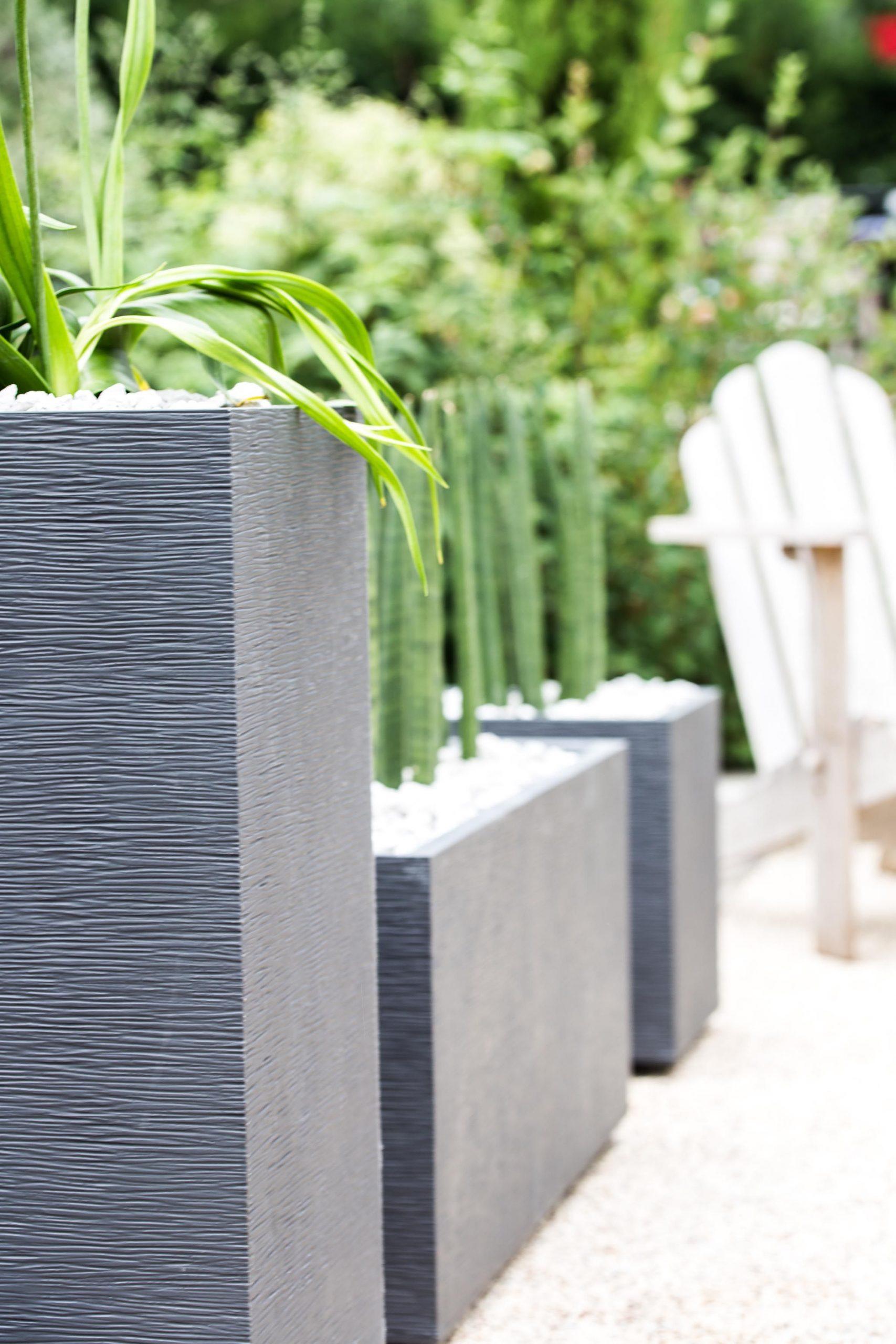Jardinières Et Murets Graphit #jardin #plantes #extérieur ... intérieur Pot Deco Jardin Exterieur