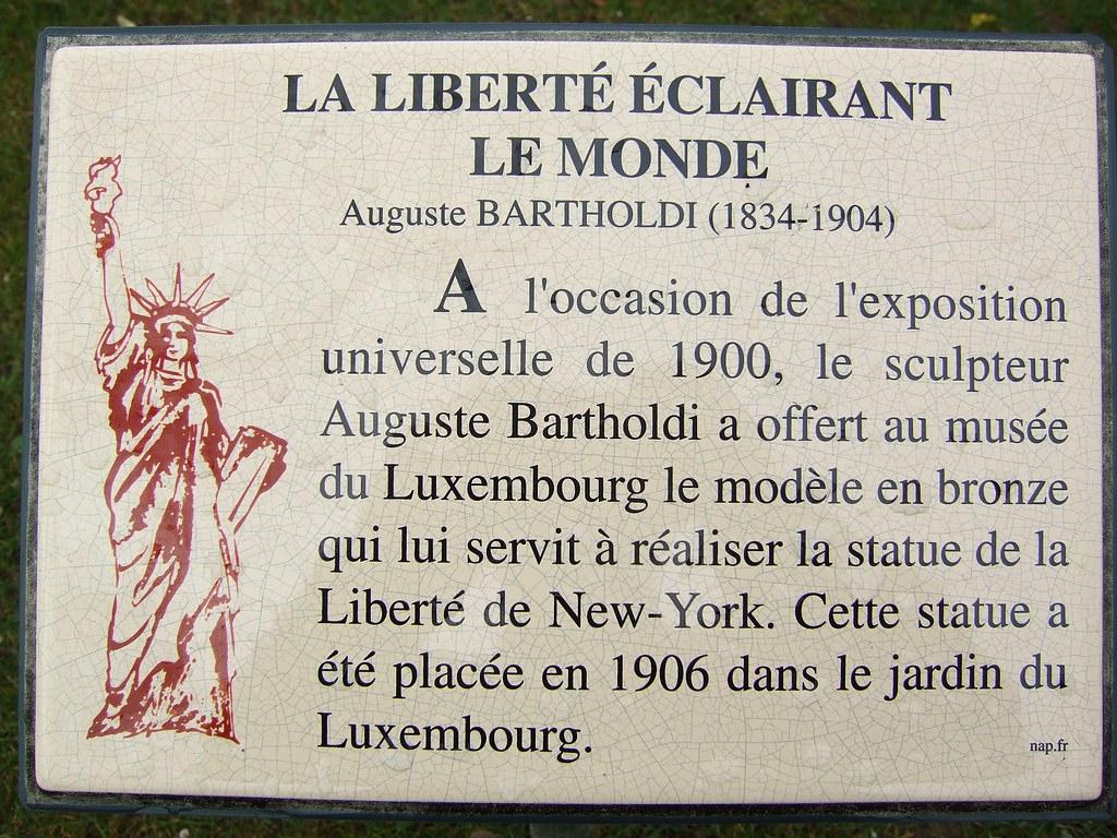 Jardins De Luxembourg - Statue Of Liberty Plaque | Byronv2 ... concernant Statues De Jardin Occasion