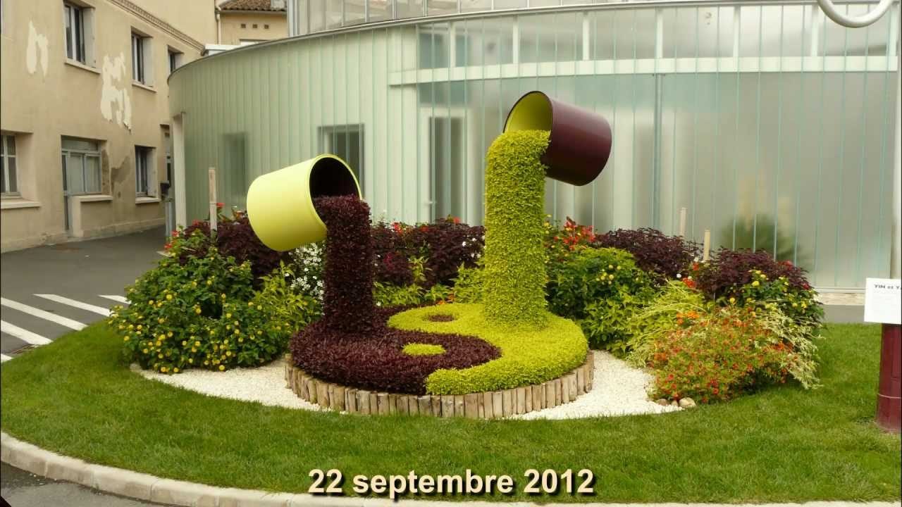 """Jardins Hopital De Lavaur (81) 2012 : """"yin & Yang"""" pour Decoration Minerale Jardin"""