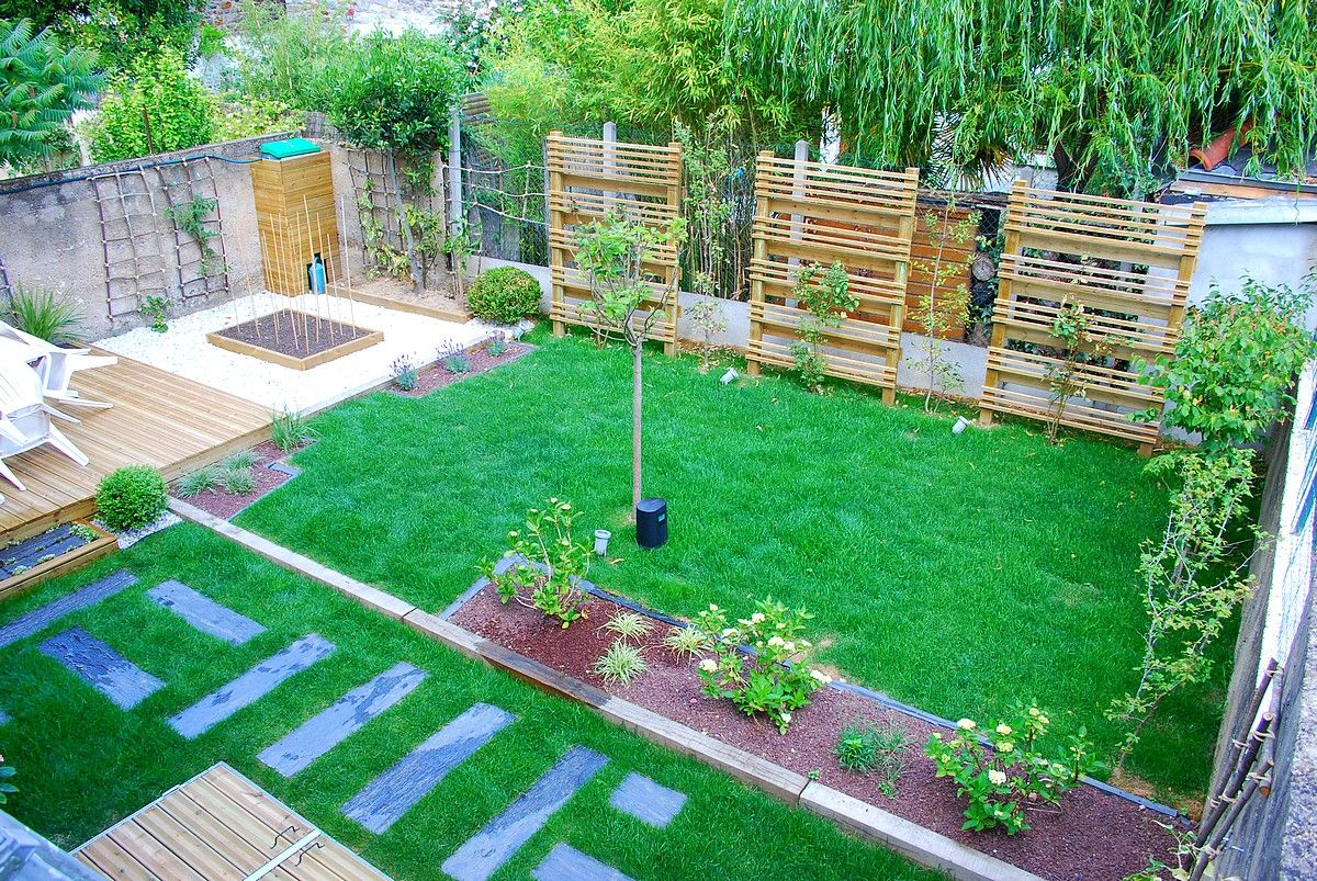 Jardins Jardin Sur Mesure Avec Terrasse, Pelouse En Rouleau ... concernant Brumisateur De Jardin