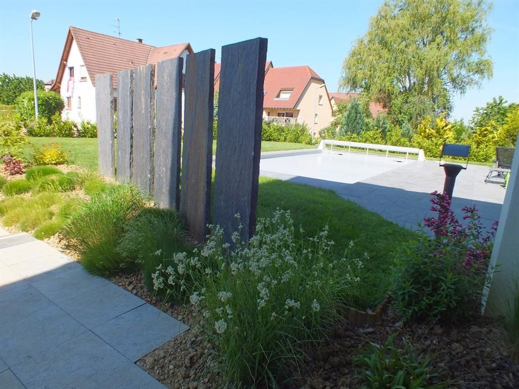 Jardins Séparés Par Un Brise Vue | Brise Vue Jardin ... tout Cache Vue Jardin