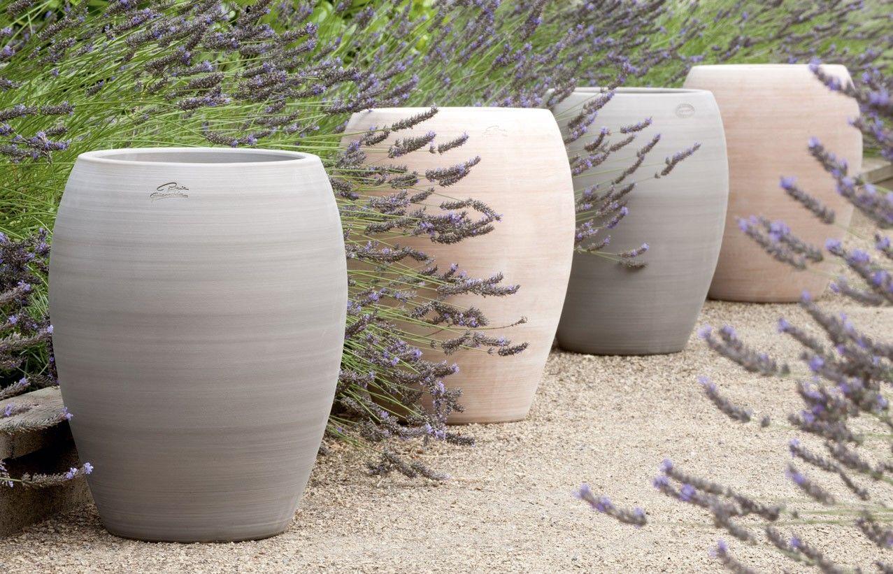 Jarre Contemporaine En Terre Cuite - Pot De Jardin - Poterie ... destiné Jarre Terre Cuite Pour Jardin