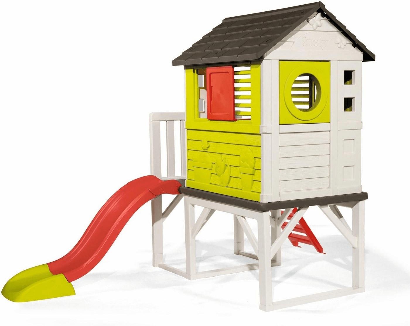 Jeu Plein Air Smoby Maison Pilotis Avec Toboggan 810800 Jeux ... pour Maison Jardin Smoby