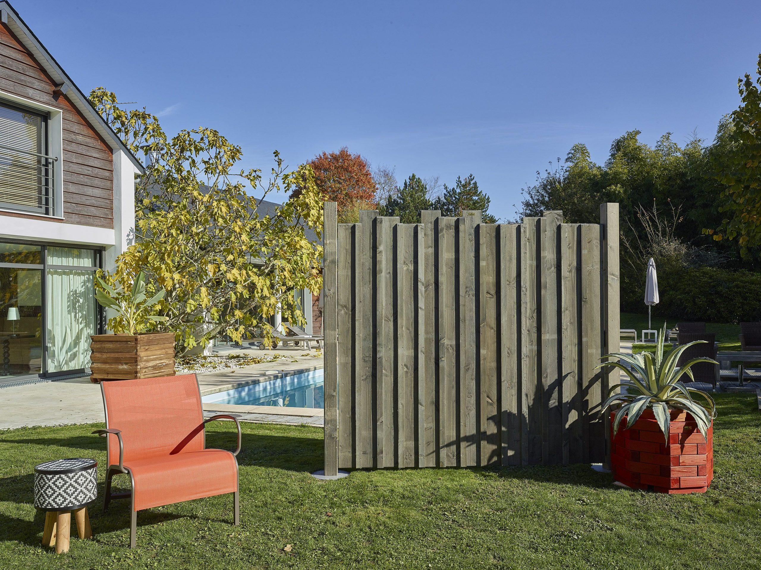 Jolie Clôture En Bois #tendance #moderne #authentique ... pour Panneaux Bois Jardin