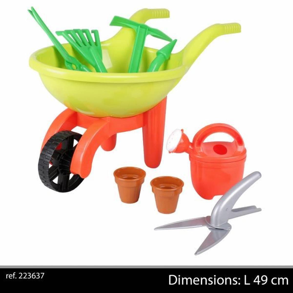Jouet De Jardinage Enfant Pour Le Jardin Jardinier Brouette ... serapportantà Brouette Jardin Enfant
