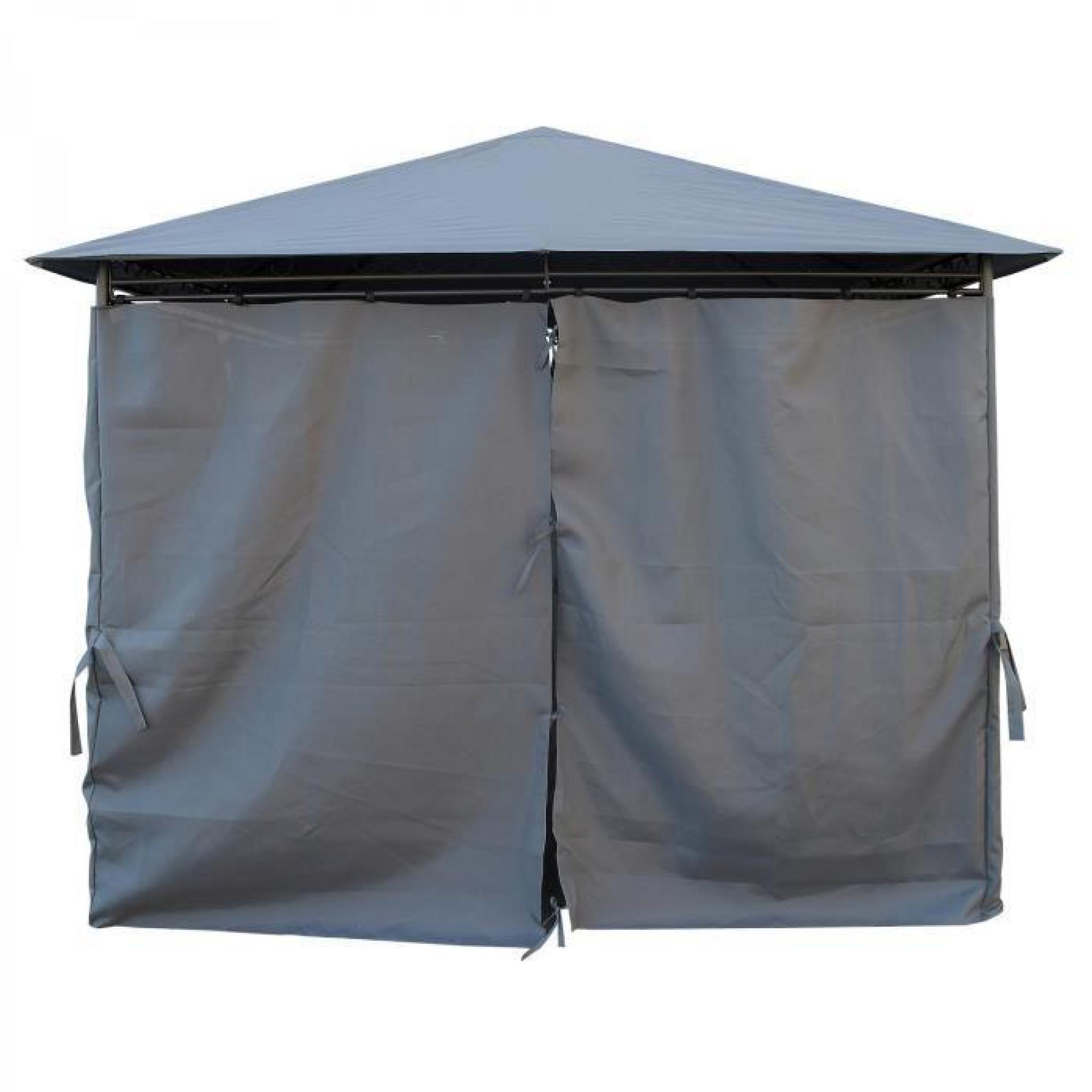 Kaligagan - Tente De Jardin Pergola 3X3M Gris Anthracite Tonnelle, Barnum serapportantà Tonnelle De Jardin Carrefour