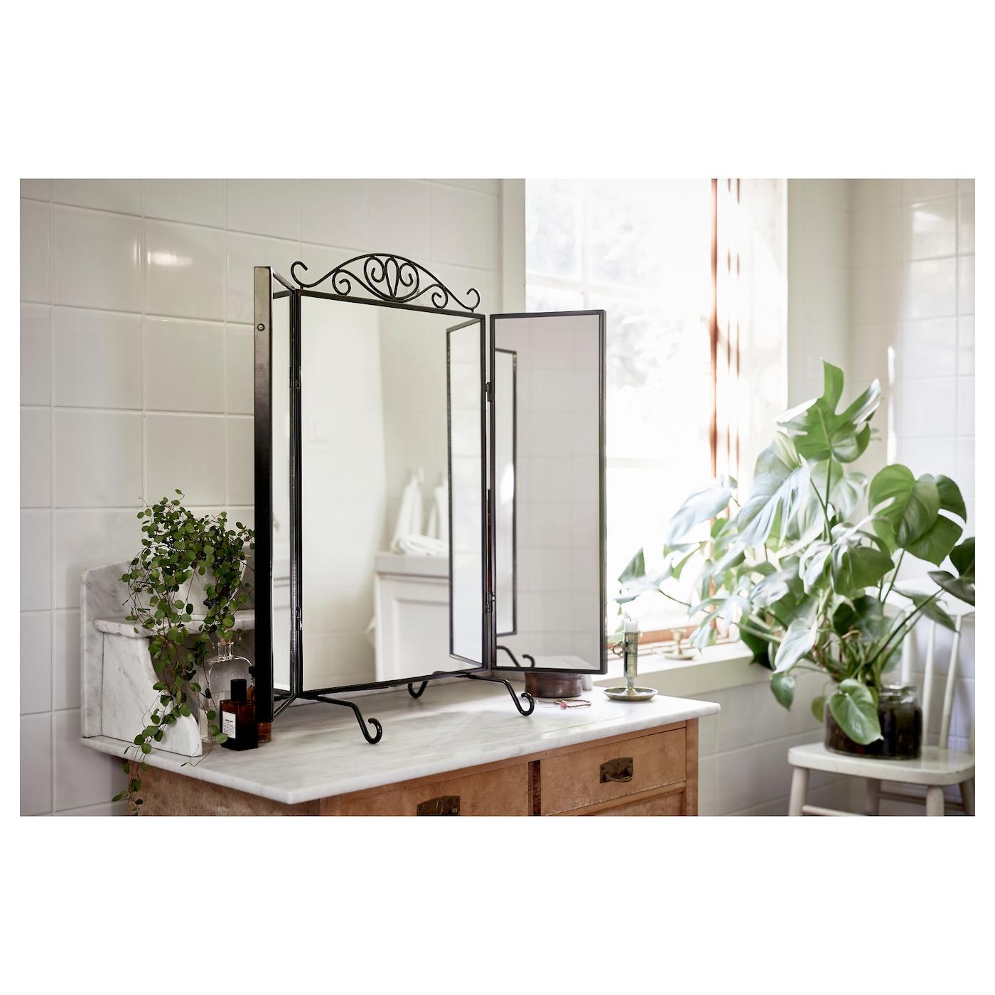 Karmsund Miroir De Table - Noir 80X74 Cm dedans Mobilier De Jardin Ikea