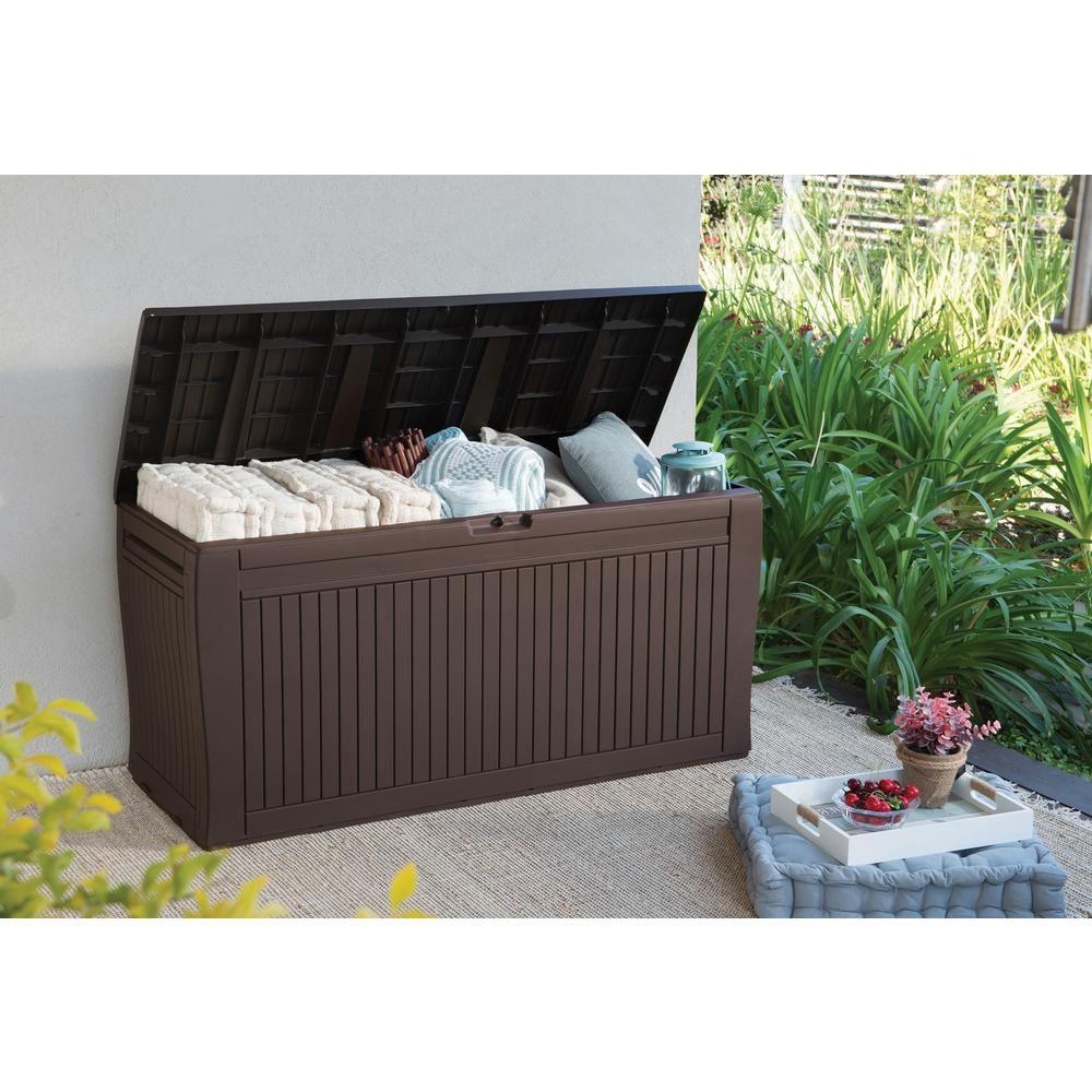 Keter Comfy 71 Gal. Resin Deck Box, Espresso Brown | Buy For ... tout Coffre De Jardin Keter