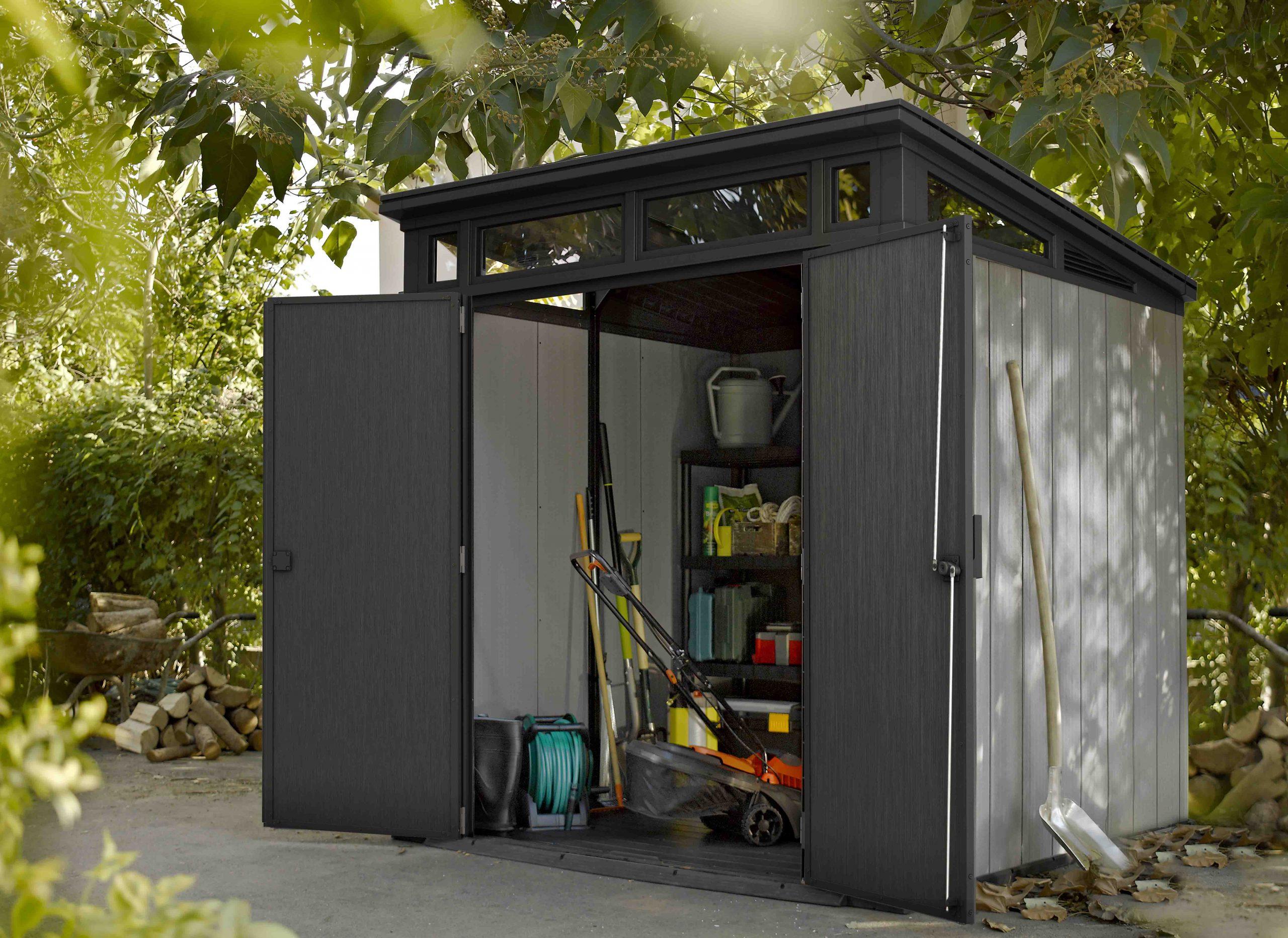 Keter:la Maison Du Jardin L'abri En Résine Oakland Brossium ... pour Abris De Jardin En Résine