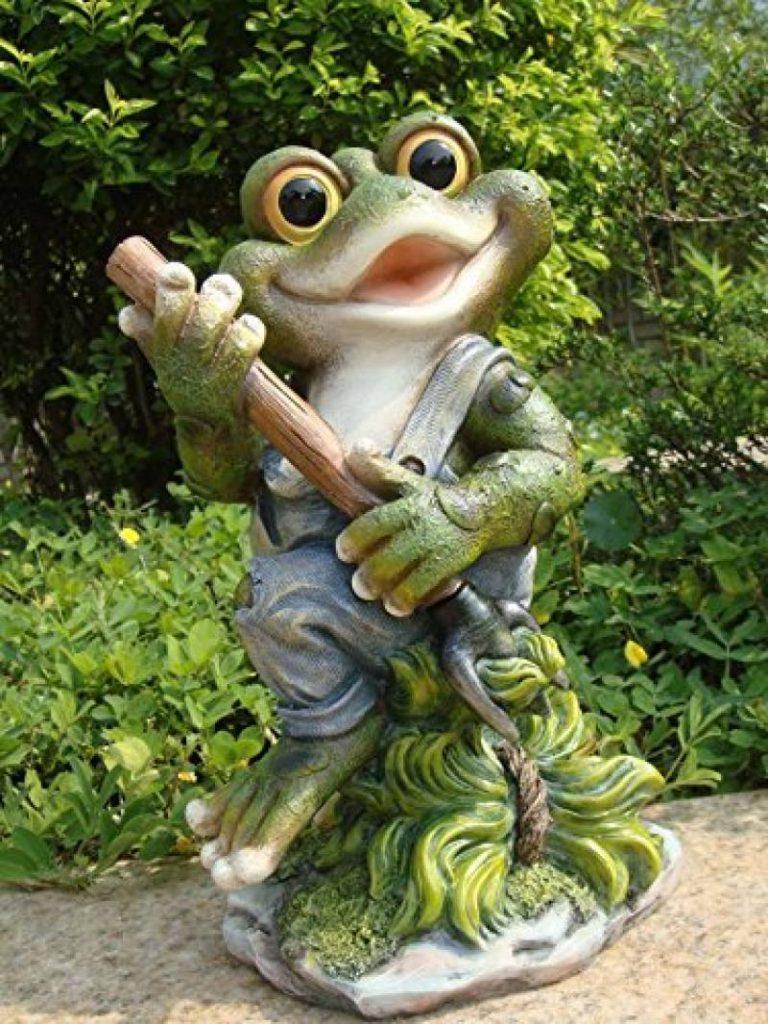 Khevga Statue De Jardin Décoration De Jardin En Polyrésine ... intérieur Animaux Deco Jardin