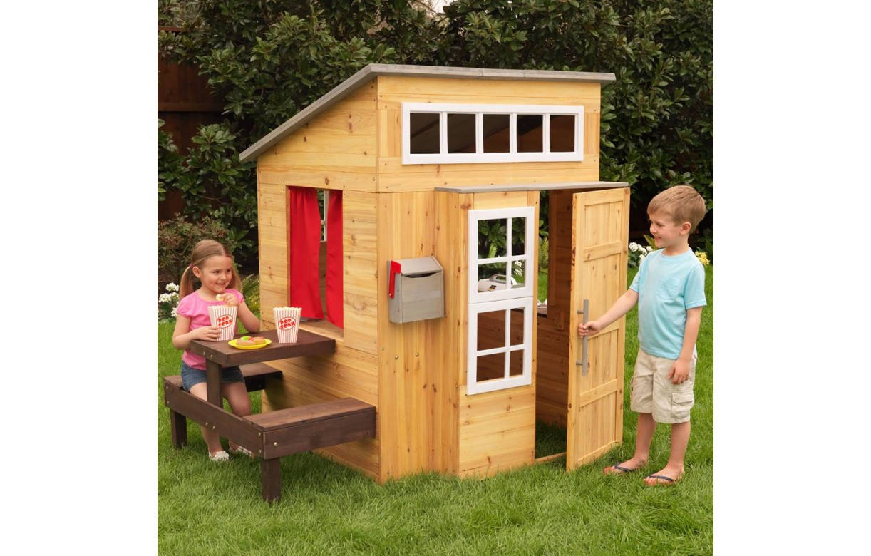 Kidkraft Cabane Pour Enfants D'extérieur Moderne 00182 destiné Maison De Jardin Pour Enfants
