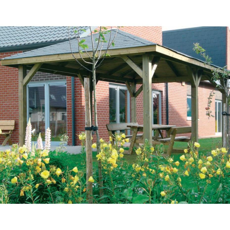 Kiosque De Jardin En Bois Monaco 2 - 629 Cm X 347 Cm tout Kiosque De Jardin En Bois