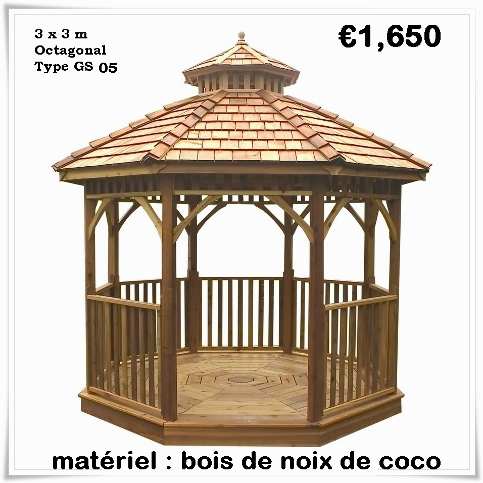 Kiosque De Jardin En Bois Pas Cher   Gazebo: Kiosque De ... avec Kiosque De Jardin En Bois Pas Cher