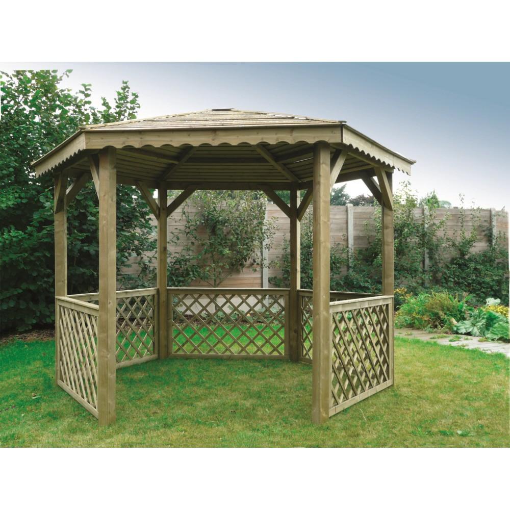 Kiosque De Jardin Hexagonal Solid En Bois 6.68M² destiné Kiosque De Jardin En Bois