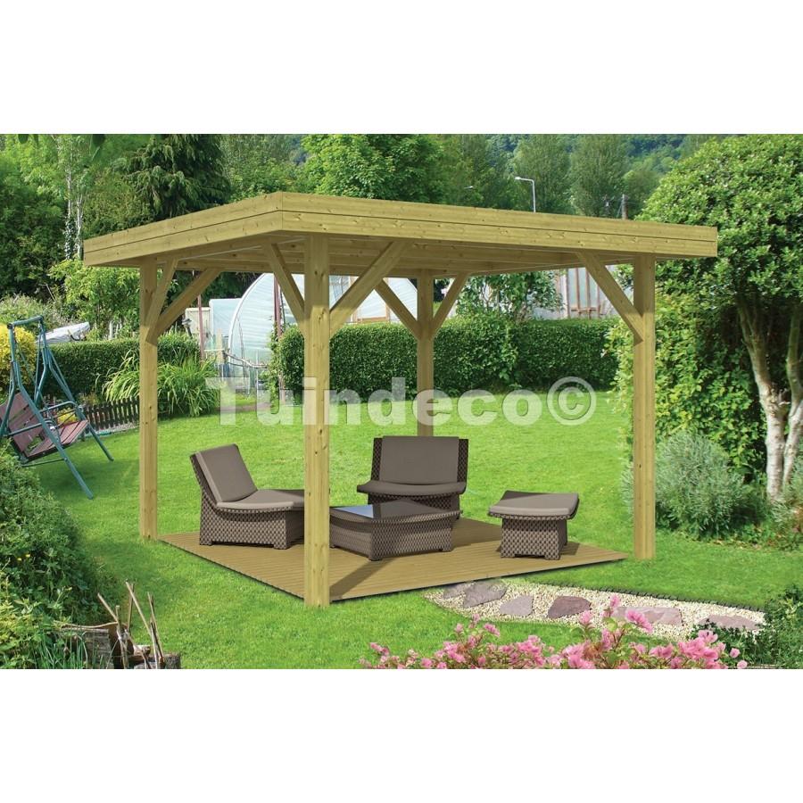 Kiosque De Jardin Moderne Moyen 13M2 De Tuindeco pour Kiosque De Jardin En Bois