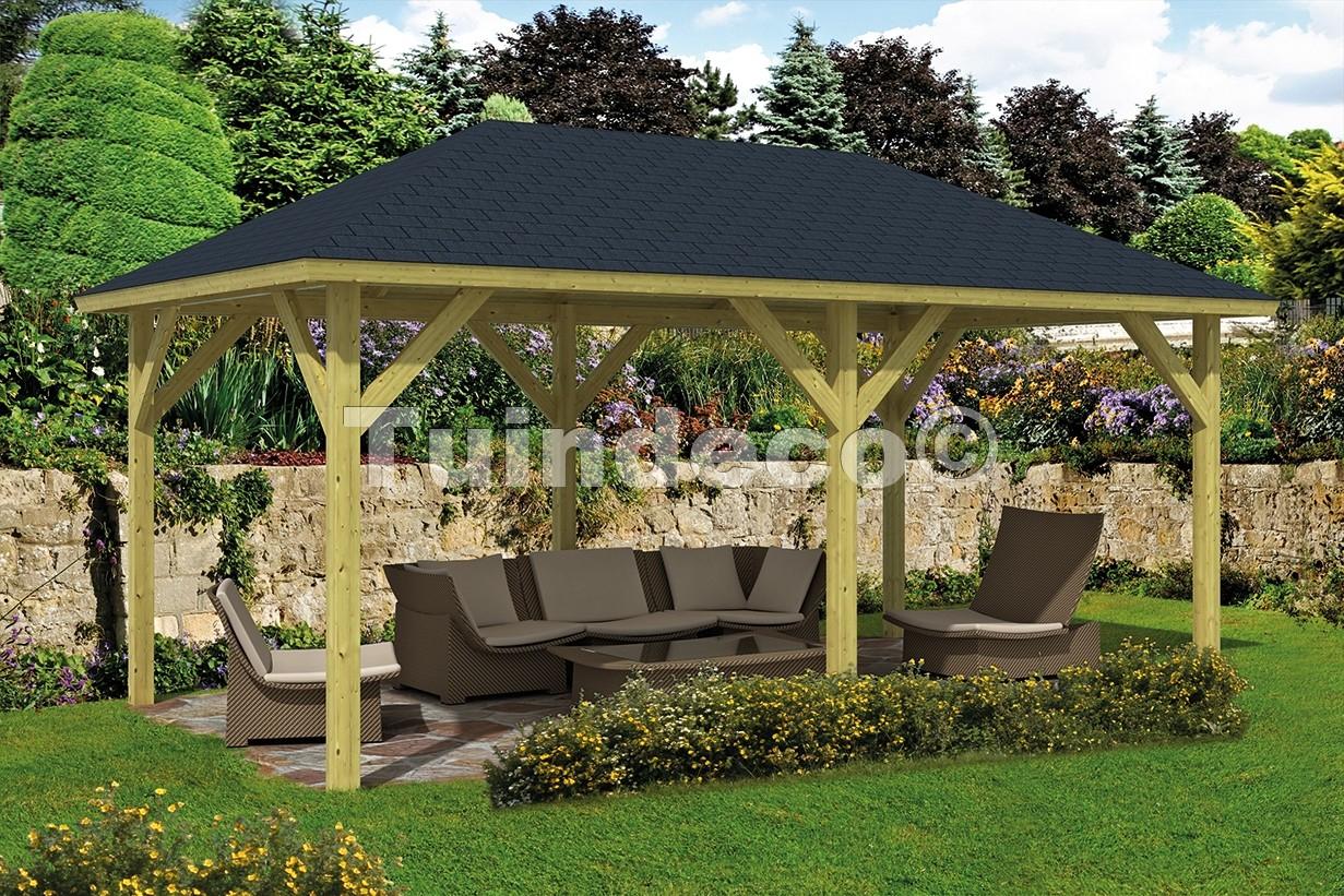 Kiosque De Jardin Supérieur Rectangulaire De Tuindeco destiné Kiosque De Jardin En Bois