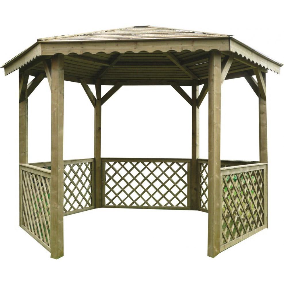 Kiosque De Jardin Treillis 1 Gloriette Solid - 305X351 Cm ... intérieur Kiosque De Jardin En Bois
