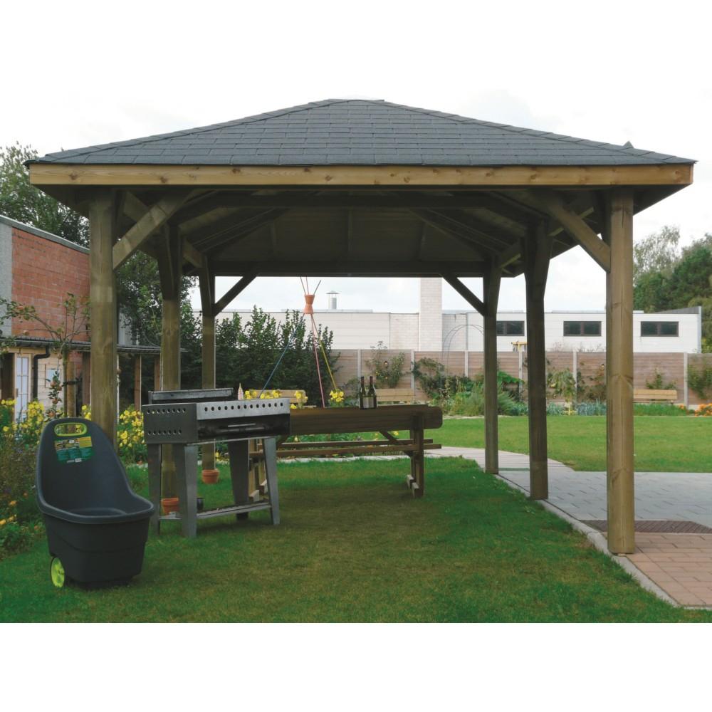 Kiosque En Bois Solid 437X437Cm concernant Kiosque De Jardin En Bois