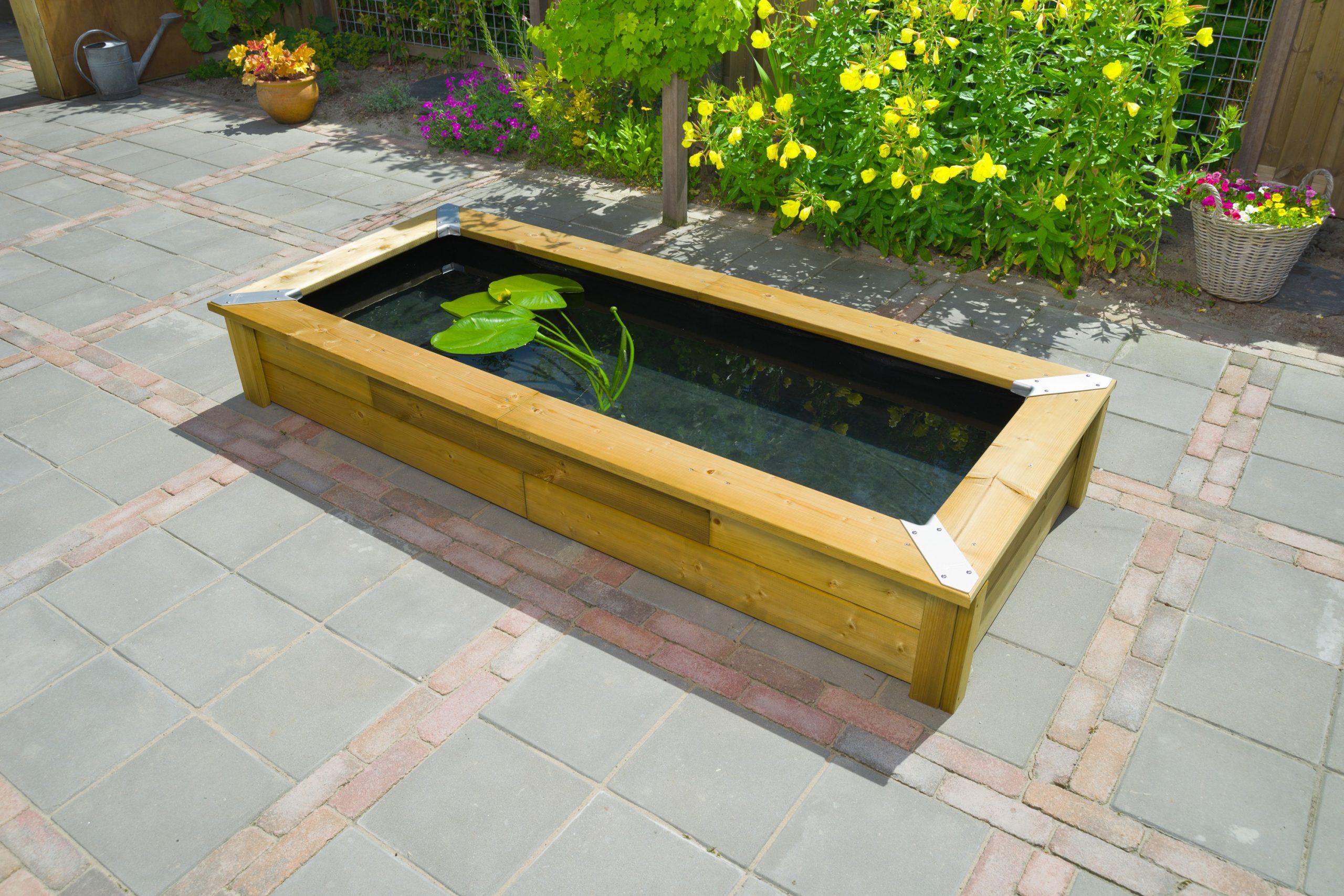 Kit Bassin De Jardin En Bois Avec Bâche Set Quadro Wood 5 Ubbink encequiconcerne Kit Bassin De Jardin Préformé