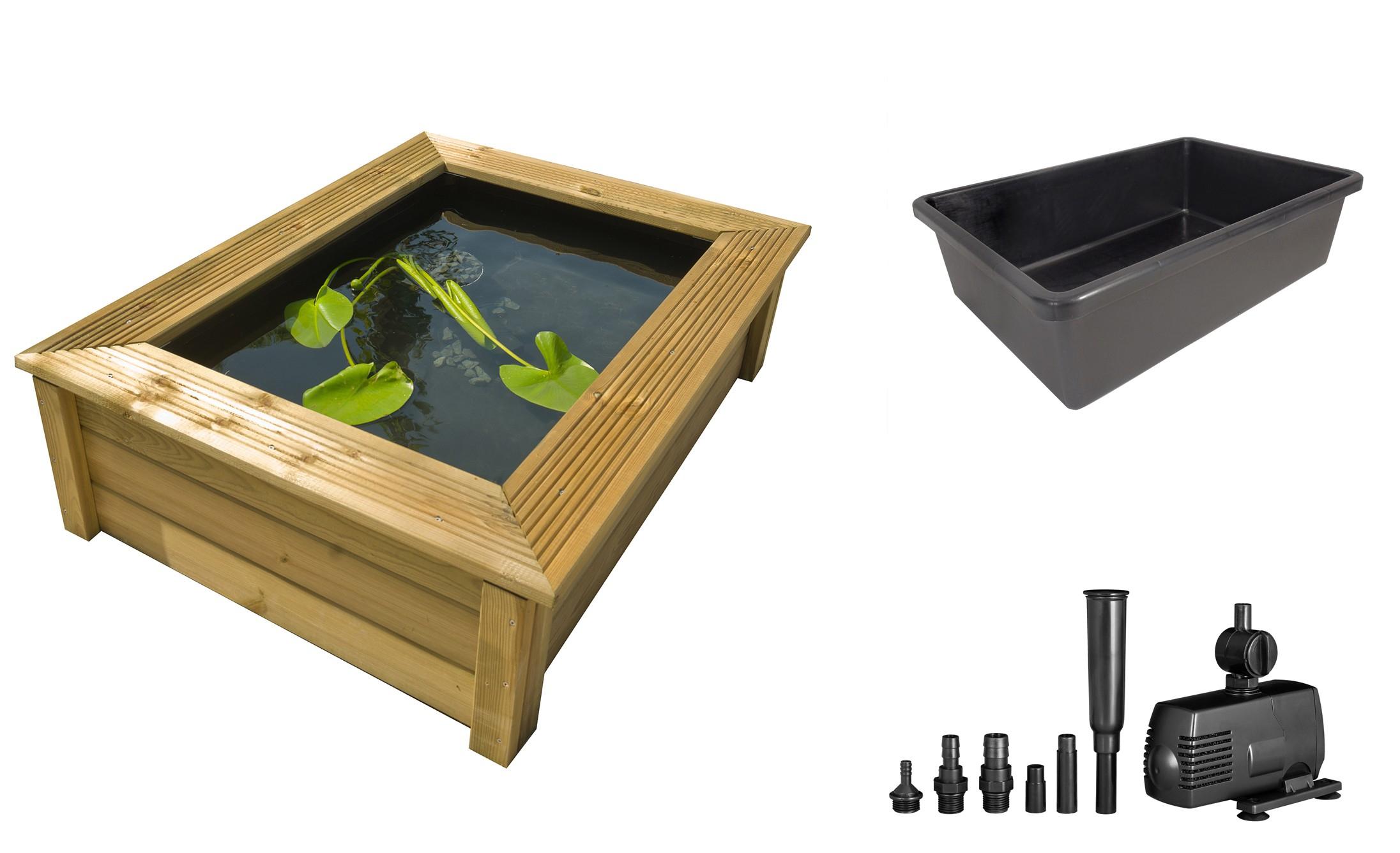 Kit Bassin De Jardin En Bois Quadro Wood 10 Ubbink Avec ... avec Kit Bassin De Jardin Préformé