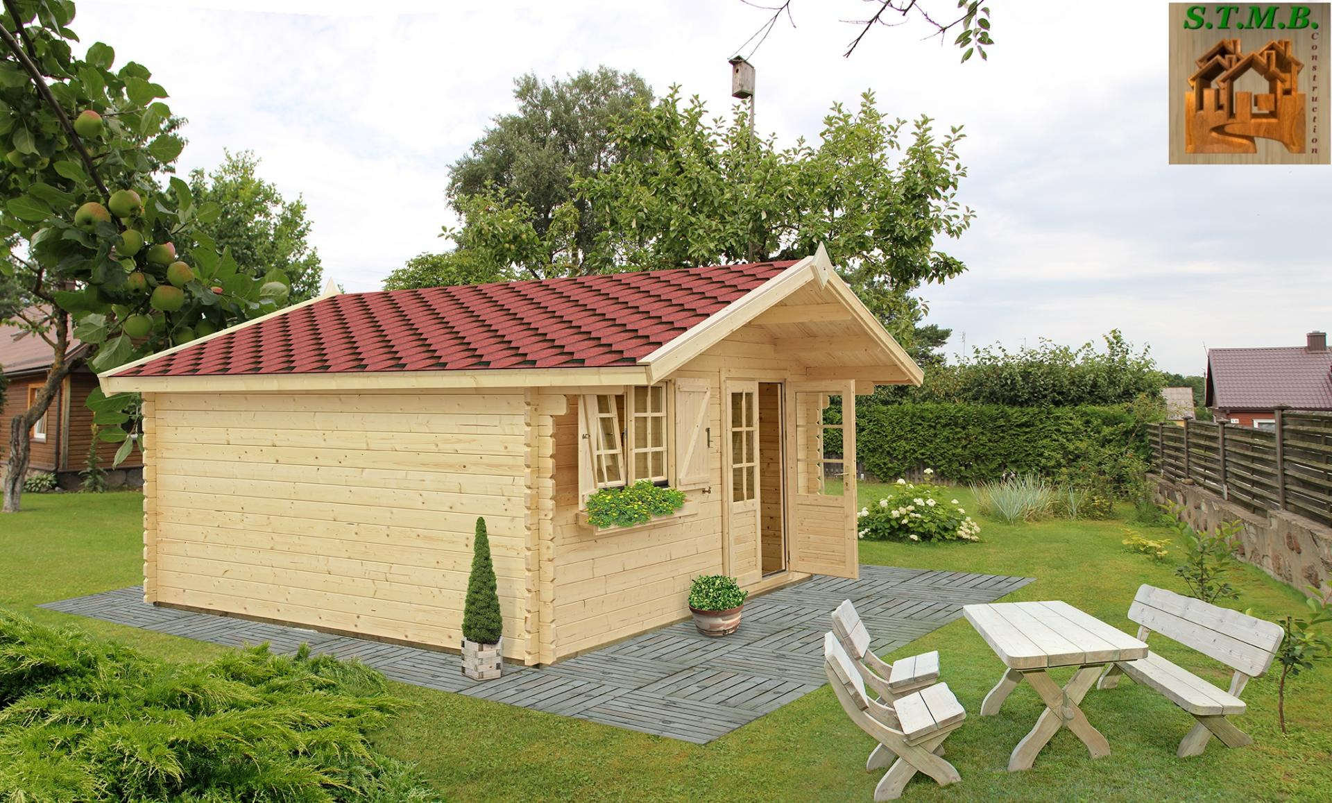 Kit Chalet En Bois Habitable De Loisirs Laurier 20 De 20 M² - Stmb  Construction concernant Chalet De Jardin En Bois Habitable