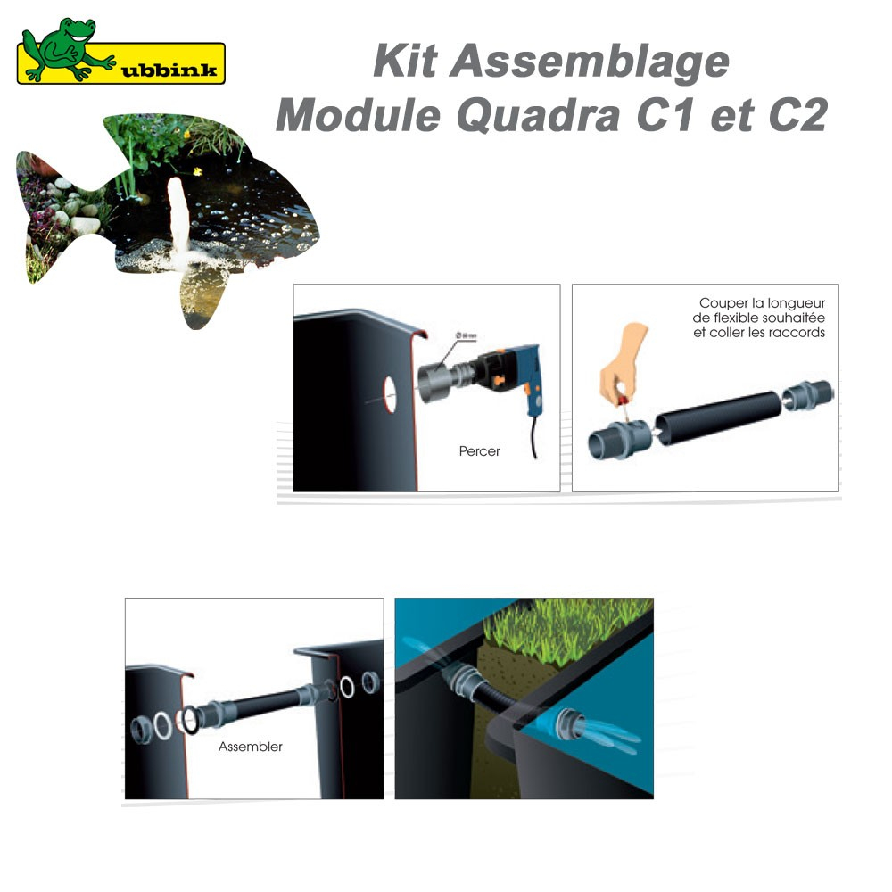 Kit De Raccordement Pour Bassin De Jardin Quadra Ubbink - Clic-Discount Net  ! concernant Bassin De Jardin Préformé