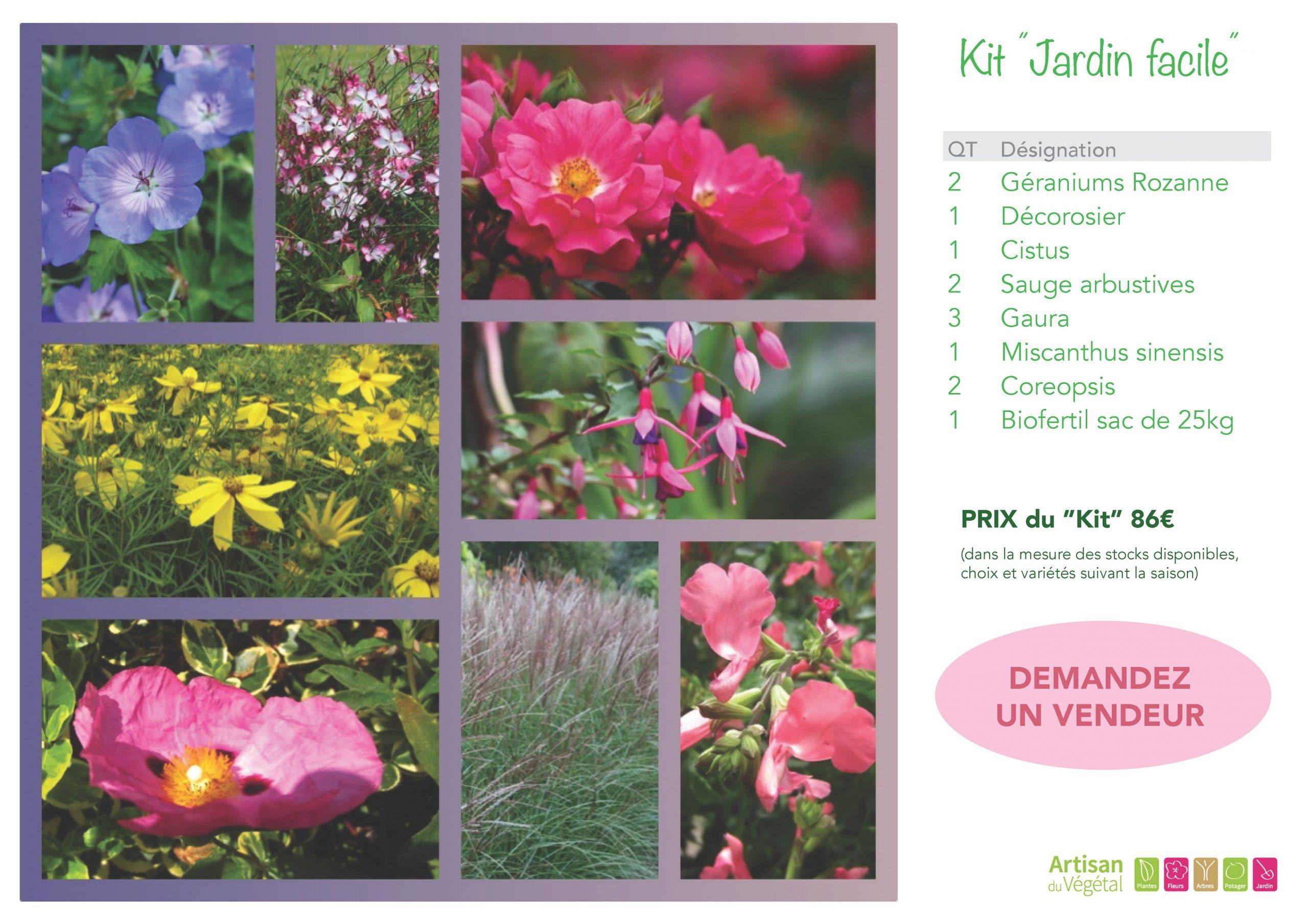 Kits Jardins serapportantà Jardin En Kit Pret A Planter