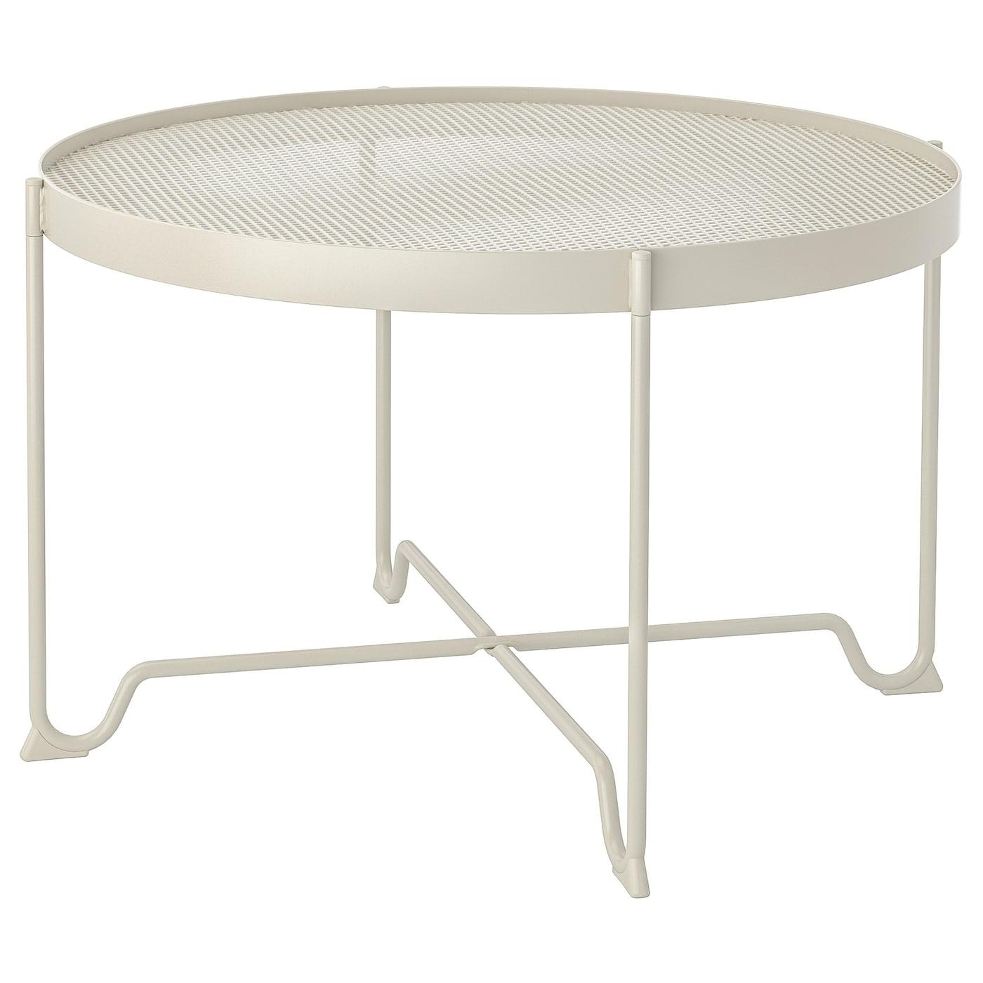 Krokholmen Table Basse, Extérieur - Beige destiné Table Jardin Plastique Ikea