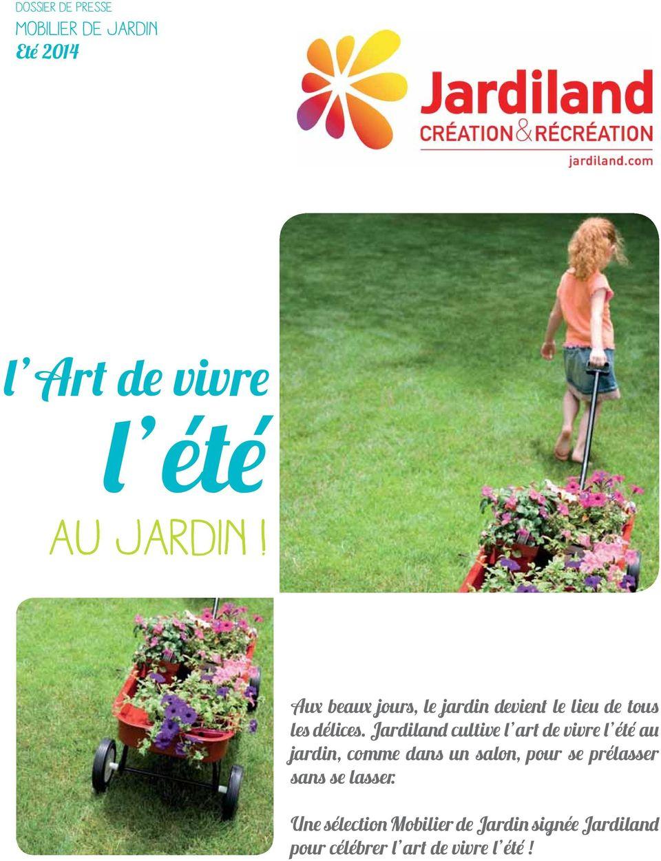 L Art De Vivre L Été Au Jardin! Mobilier De Jardin Eté Pdf ... dedans Table De Jardin Aluminium Jardiland