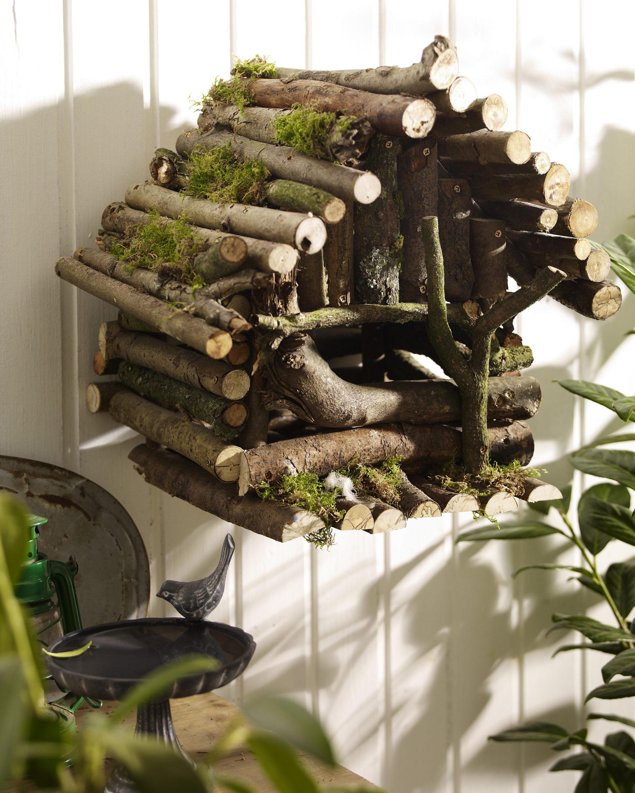 La Maison Magique Des Oiseaux Instructions De Montage ... intérieur Abri Oiseau Jardin