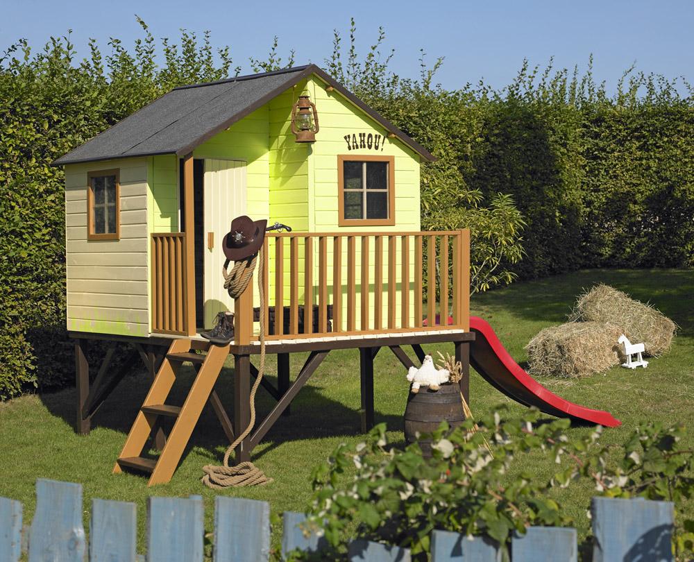 La Maisonnette Bois Louis, La Cabane Des Enfants ... concernant Maison De Jardin Pour Enfant