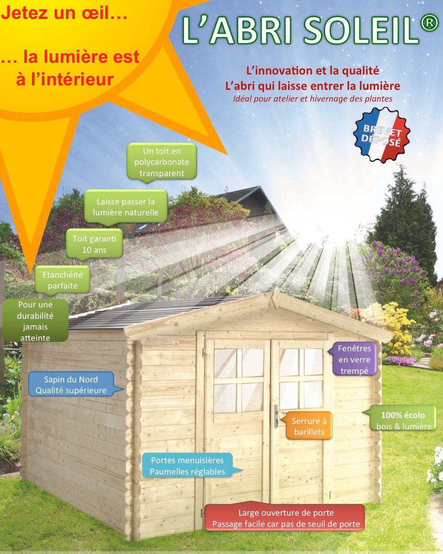 L'abri Soleil, Innovation Chalet & Jardin Est Disponible À ... encequiconcerne Destockage Abri Jardin Bois