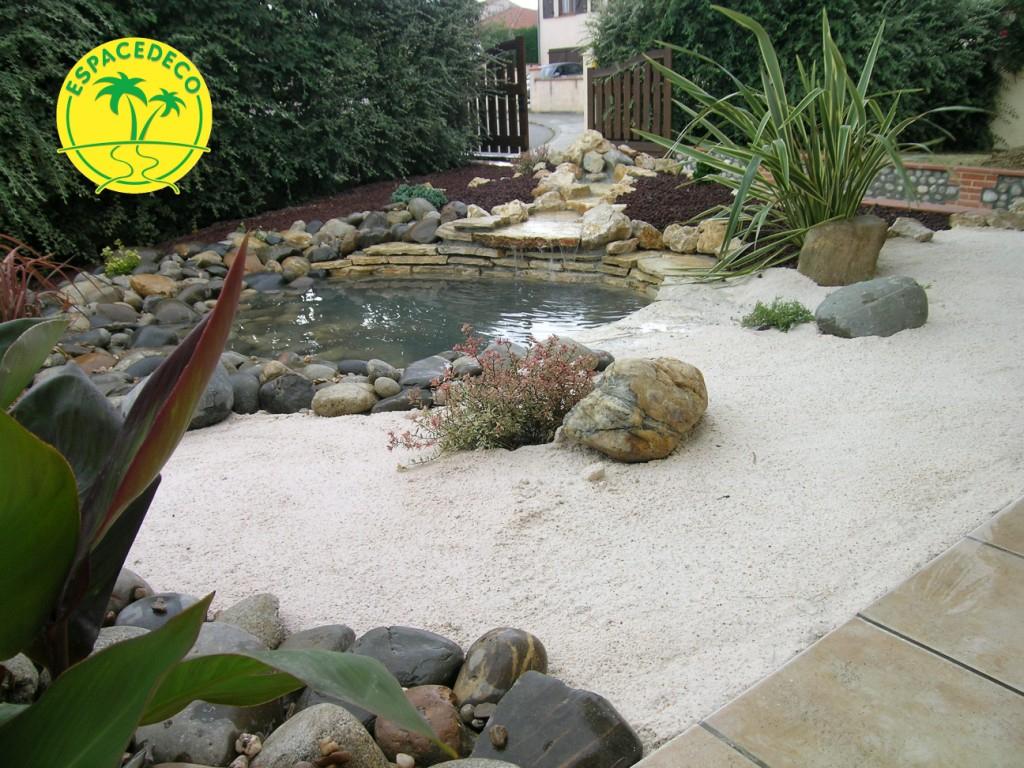 L'aménagement Et La Minéralisation D'un Jardin À Léguevin ... avec Decoration Minerale Jardin
