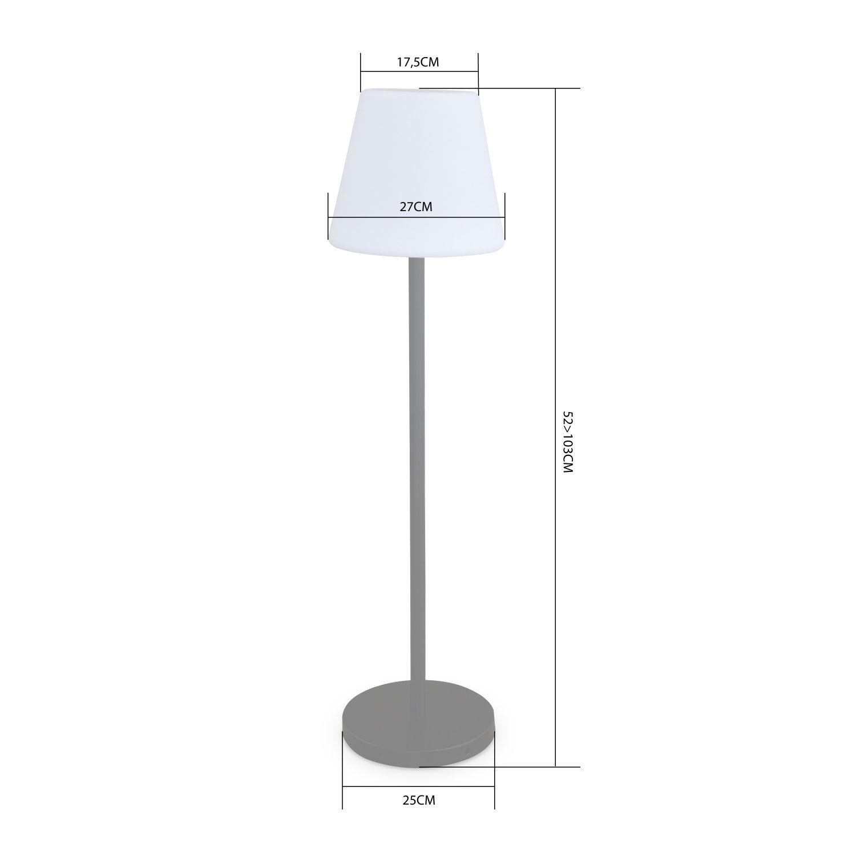 Lampadaire Extérieur 100 Cm Lampada L Led Hybride , Lampe ... intérieur Lampadaire De Jardin Sur Pied