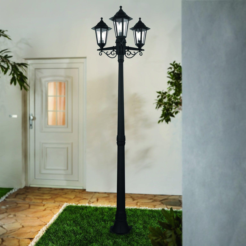 Lampadaire Extérieur E27 Max 60W Noir Duanera Eglo intérieur Lampadaire Jardin Leroy Merlin