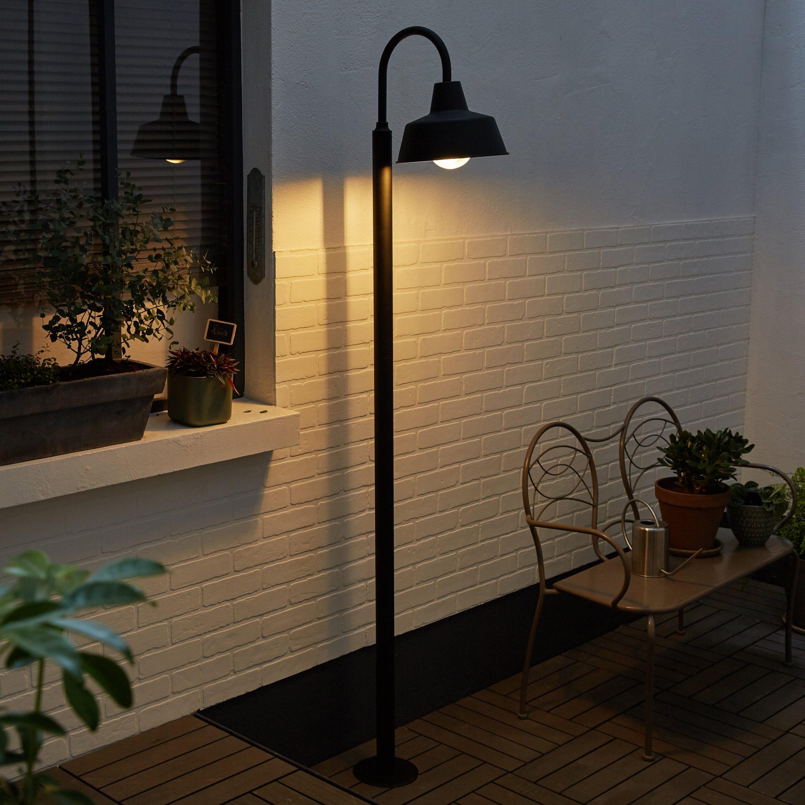 Lampadaire Extérieur E27 Max 60W Noir Sarasota Inspire destiné Lampadaire Jardin Leroy Merlin
