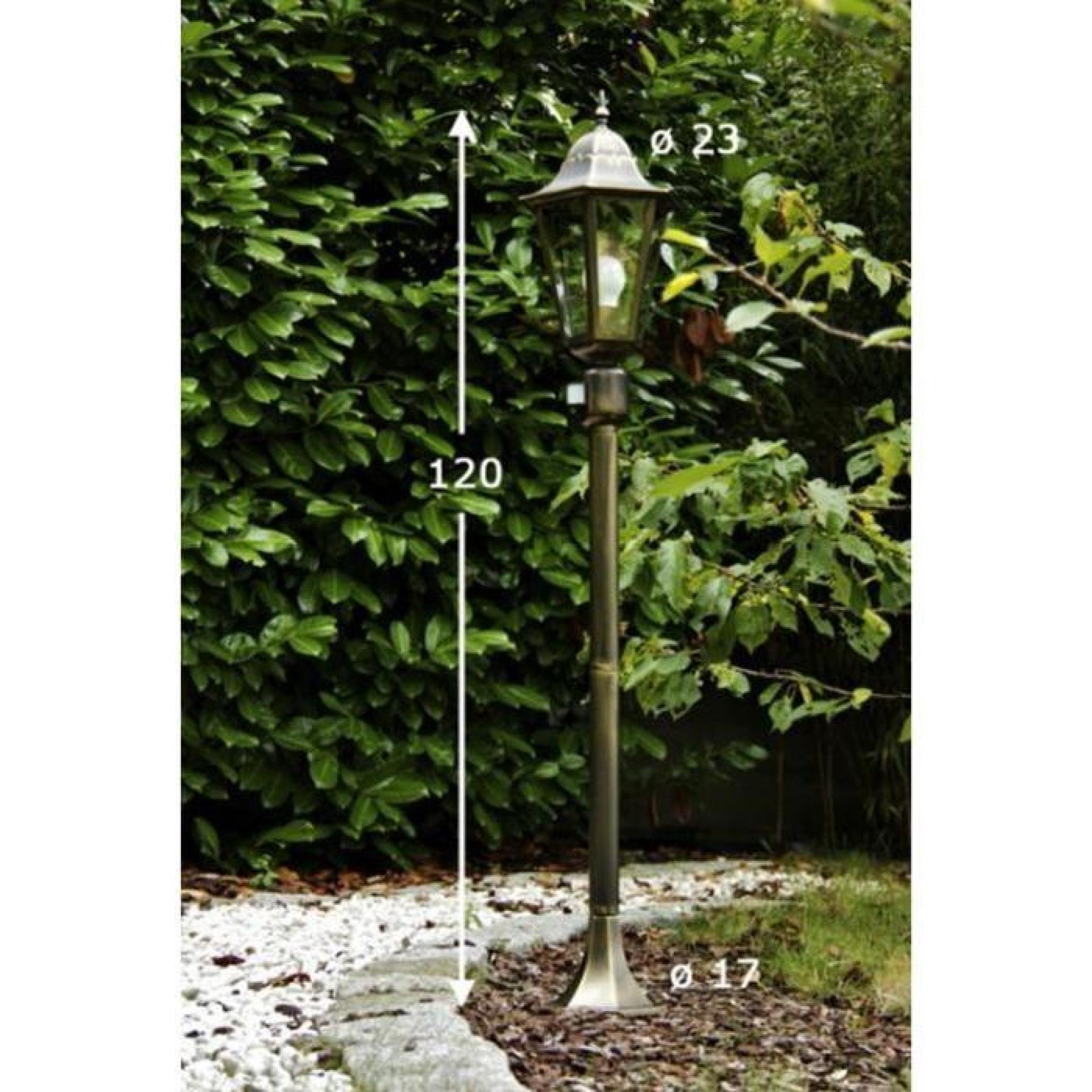 Lampadaire Extérieur Lampe Sur Pied Détecteur De Mouvement Lampe De Jardin avec Lampadaire De Jardin Sur Pied