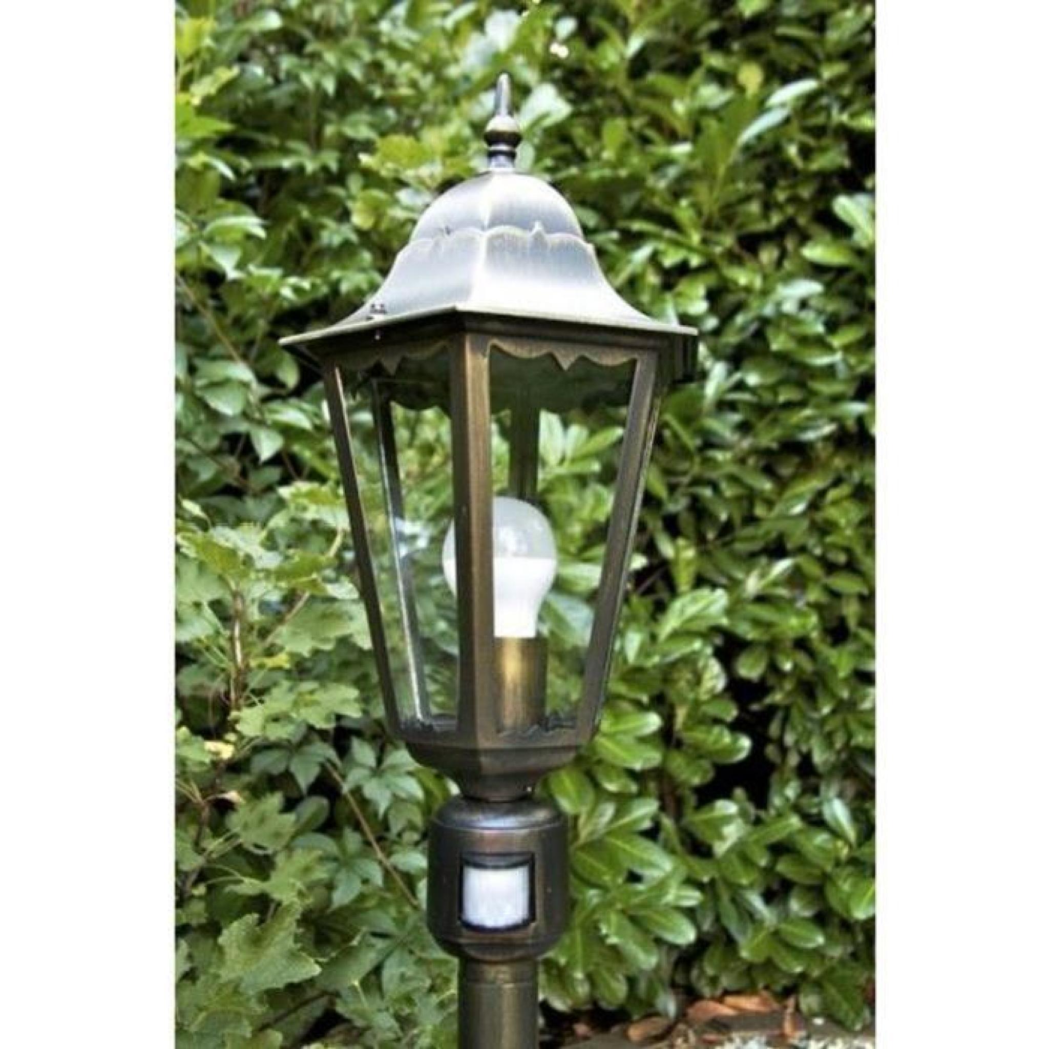 Lampadaire Extérieur Lampe Sur Pied Détecteur De Mouvement Lampe De Jardin tout Lampadaire De Jardin Pas Cher
