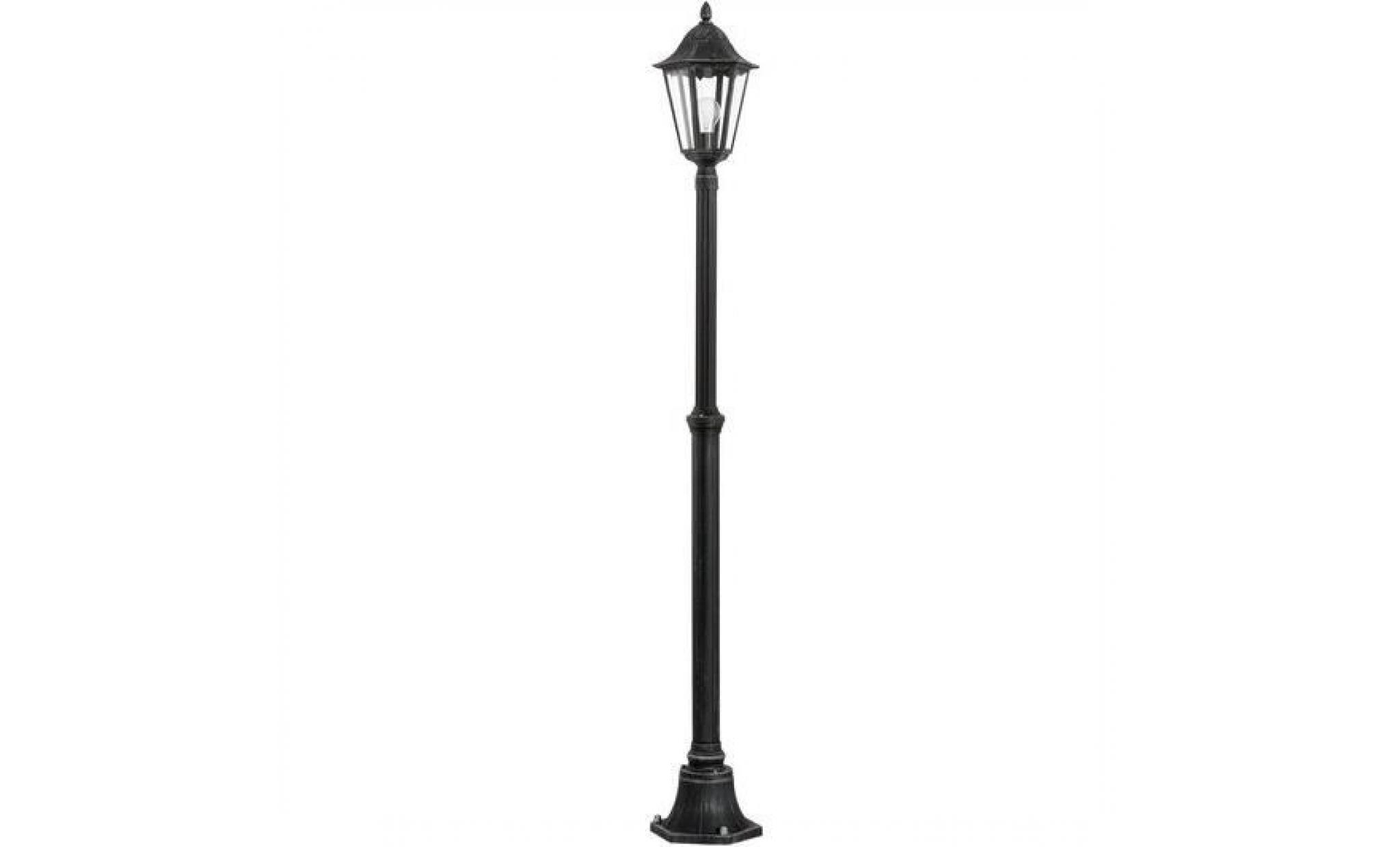 Lampadaire Extérieure Noir, Argent-Patine 1X60W... tout Lampadaire De Jardin Pas Cher