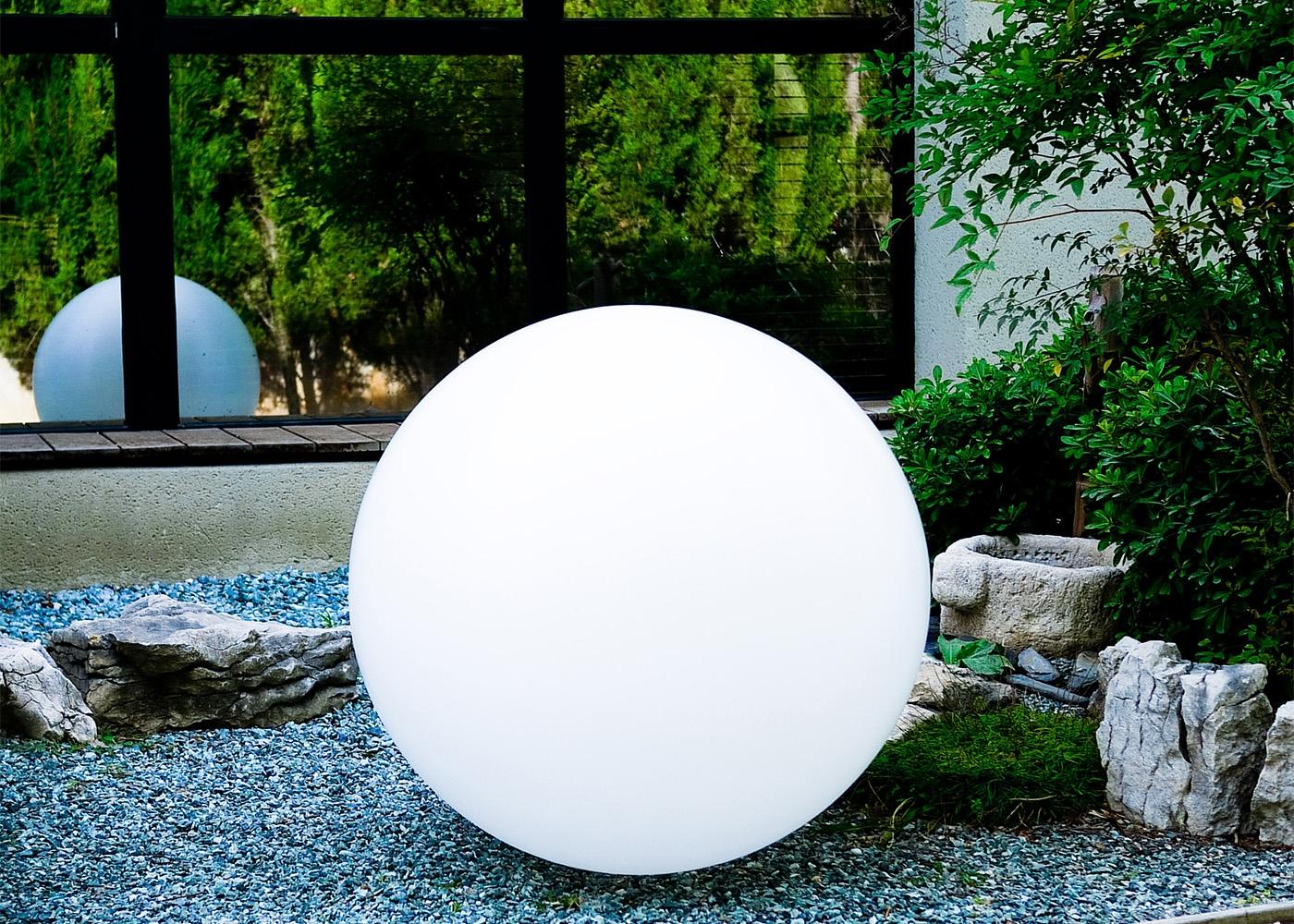 Lampe D'ambiance Sphère Lumineuse Zen Par Link avec Boule Décorative Jardin