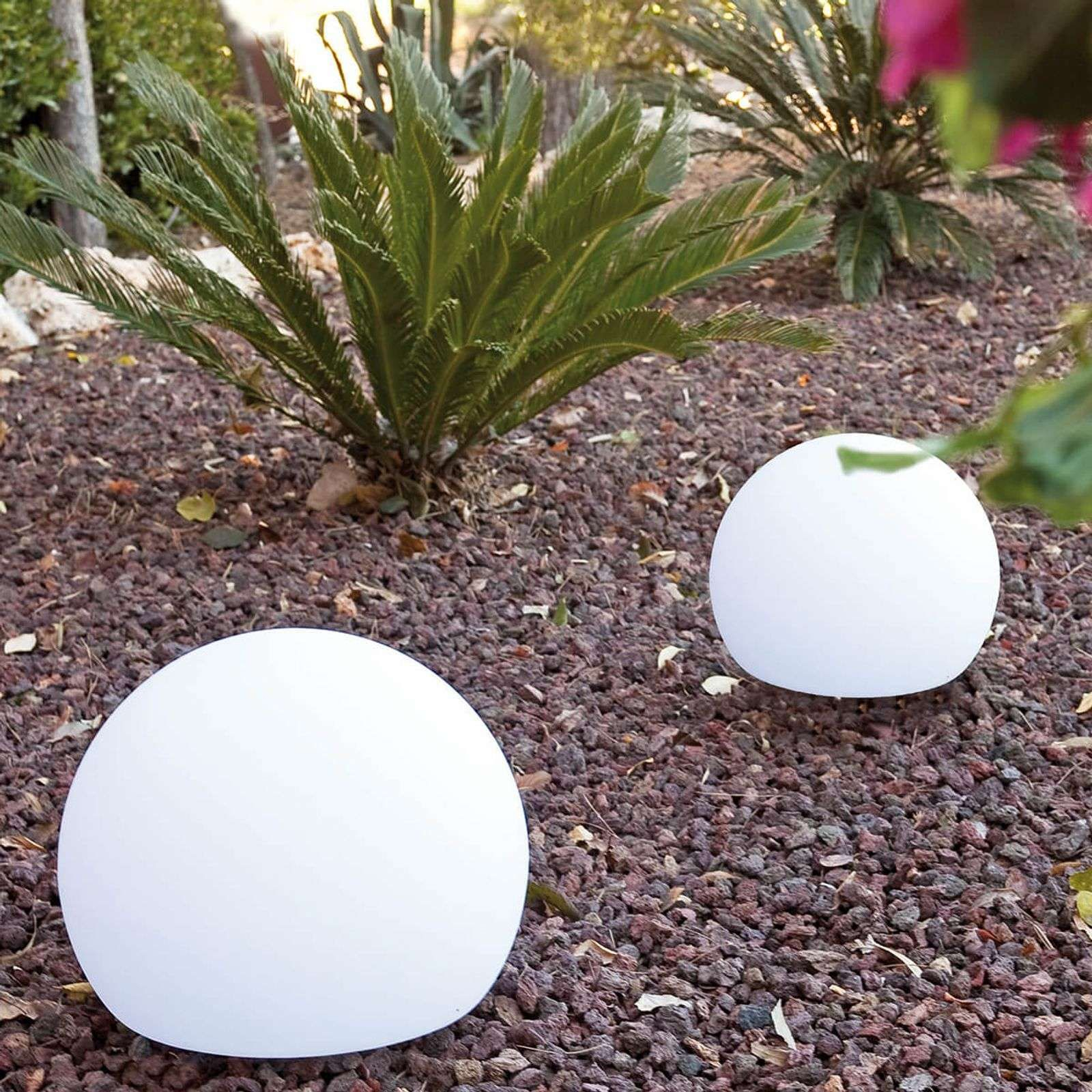 Lampe Décorative D'extérieur Sphérique Balda 40 Cm De ... dedans Boule Décorative Pour Jardin