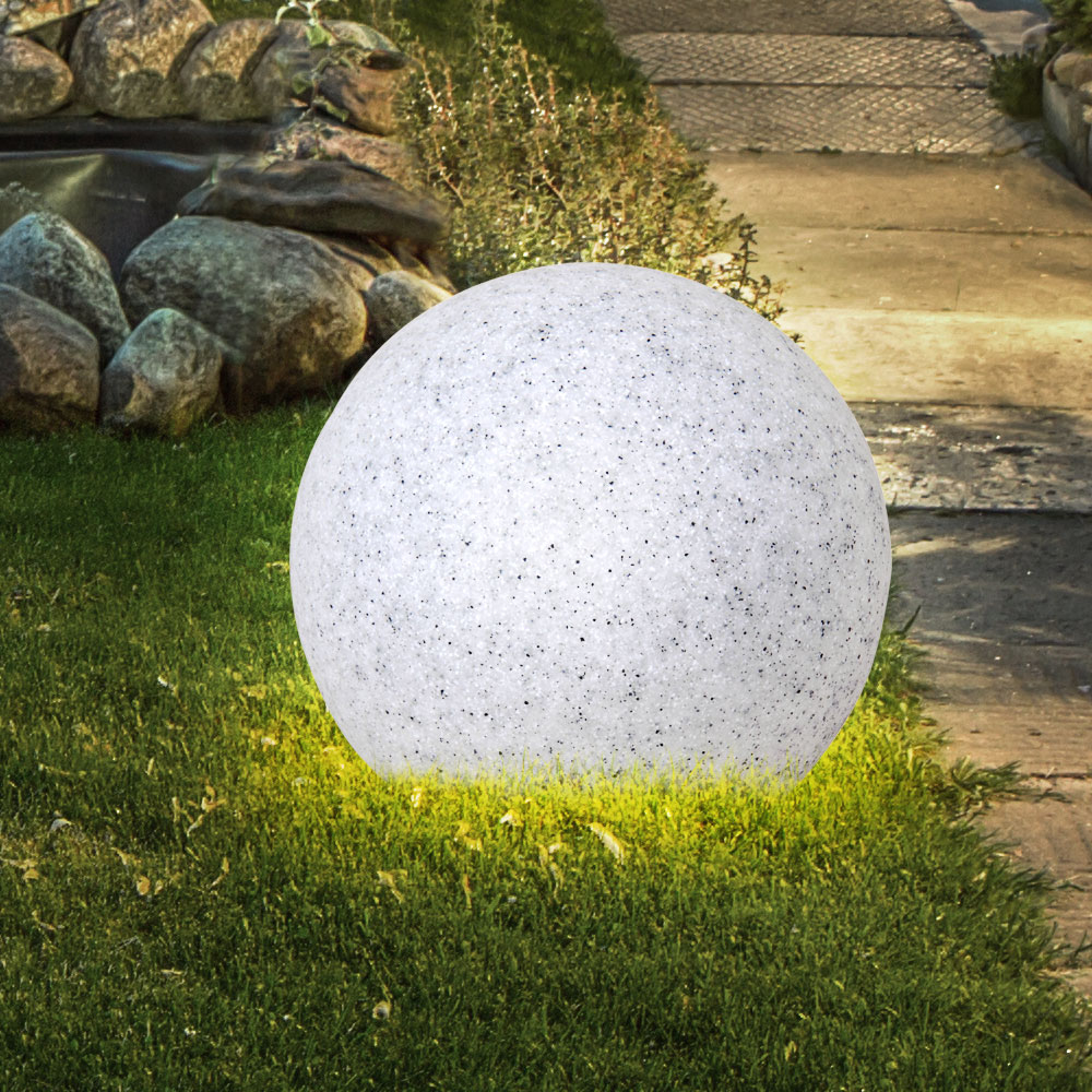 Lampe Jardin Luminaire Extérieur Boule Lumineuse Granit Pierre Décoration  Ip65 destiné Boules Lumineuses Jardin