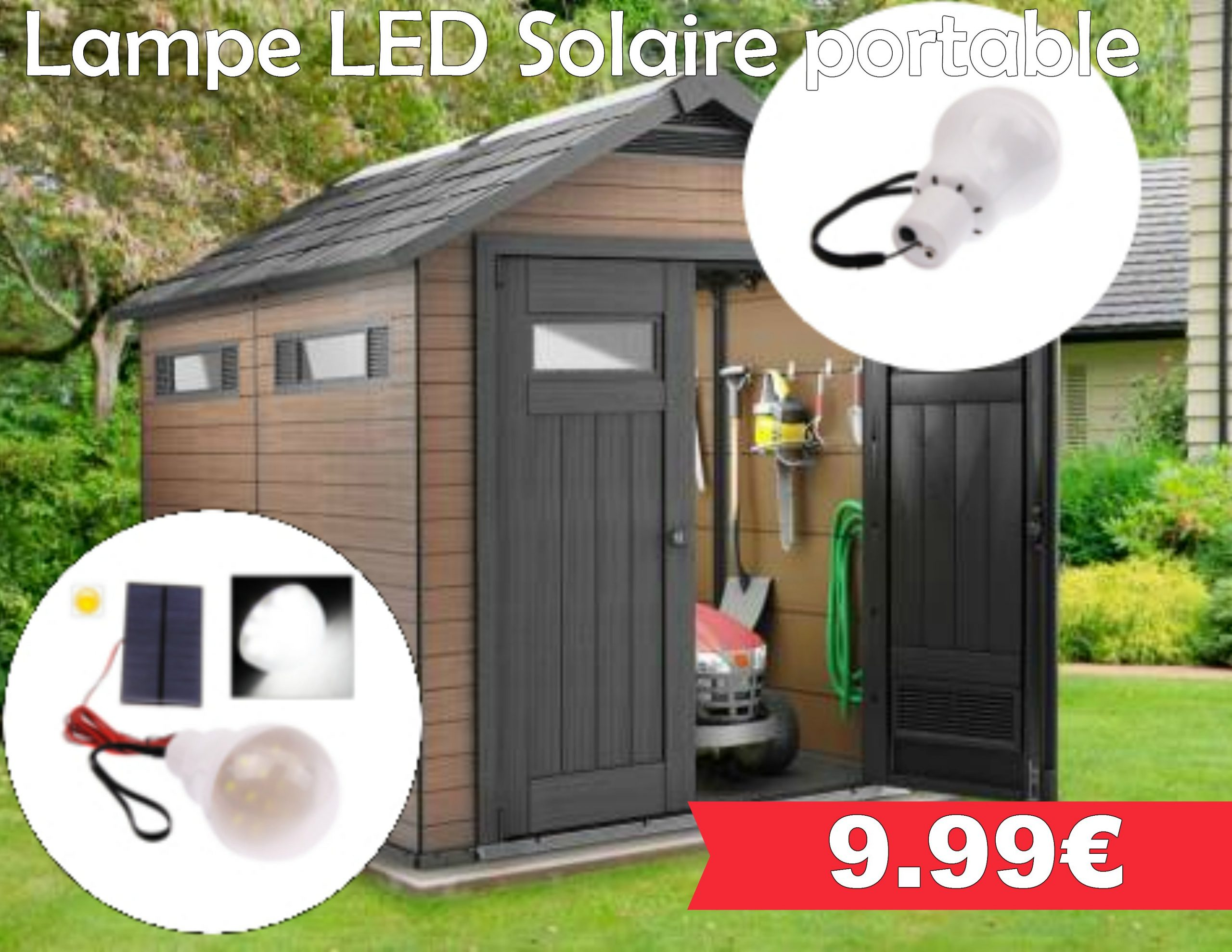 Lampe Led Solaire Portable - Leclerc Pont L'abbé dedans Abri De Jardin E Leclerc