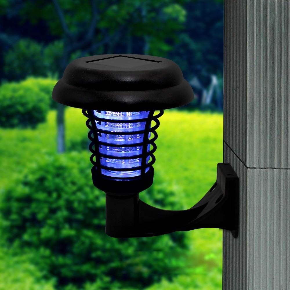 Lampe Solaire Anti-Moustique Led Zapper Killer Uv Lampe Insectes Ravageurs  Extérieur Jardin Pelouse Paysage Lumière serapportantà Anti Moustique Jardin
