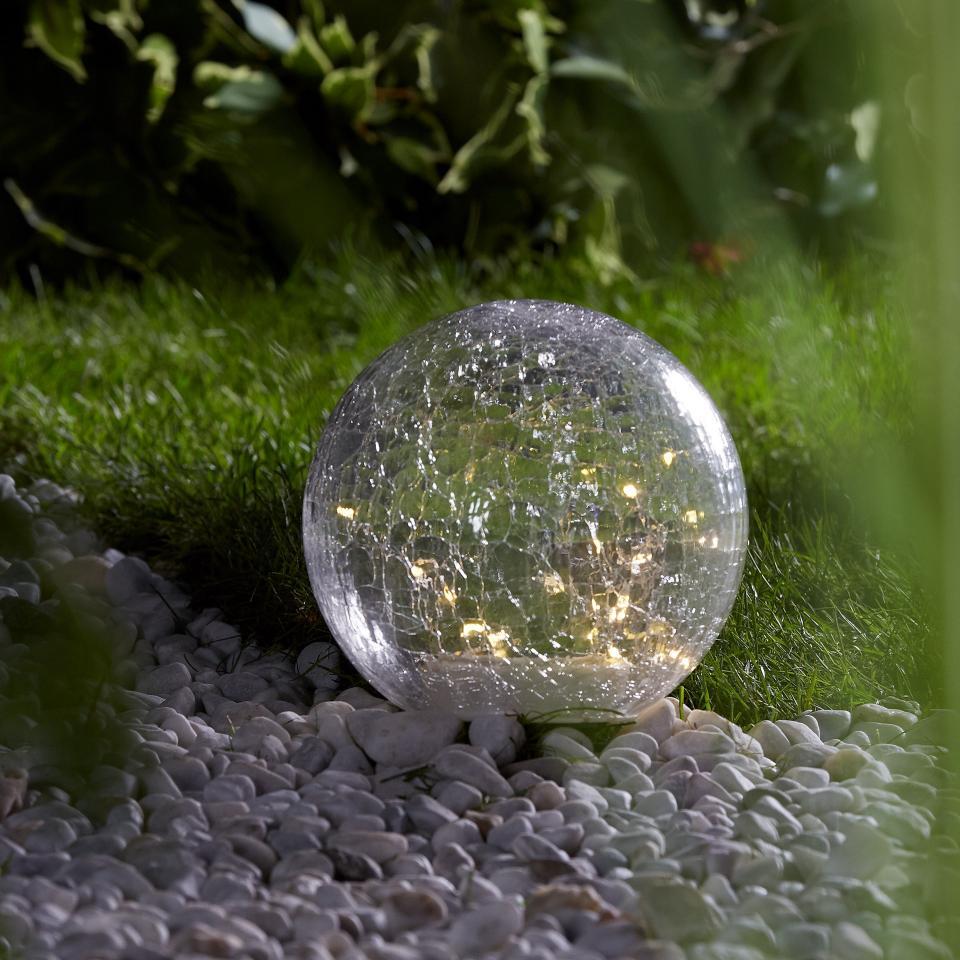 Lampe Solaire Boule Verre (Ø 20 Cm) destiné Pile Pour Lampe Solaire De Jardin