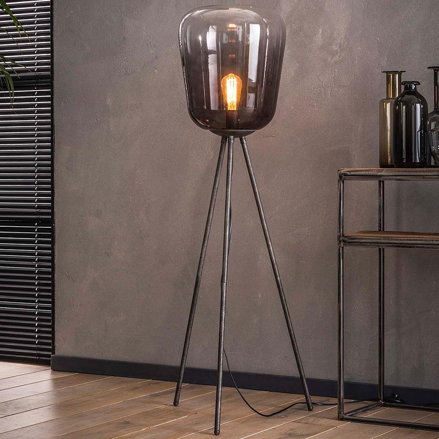 Lampe Trépied Moderne En Verre Joyce intérieur Lampadaire De Jardin Pas Cher