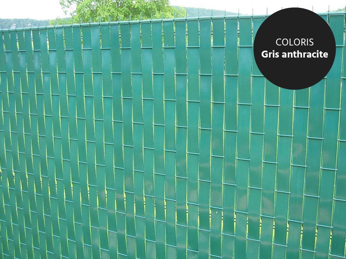 Lanière Pvc Pour Palissade Largeur 60 M + 100 Clips | Jardideco serapportantà Palissade Jardin Pas Cher