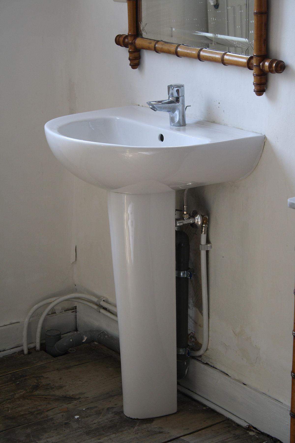 Lavabo (Sanitaire) — Wikipédia à Evier Pour Jardin